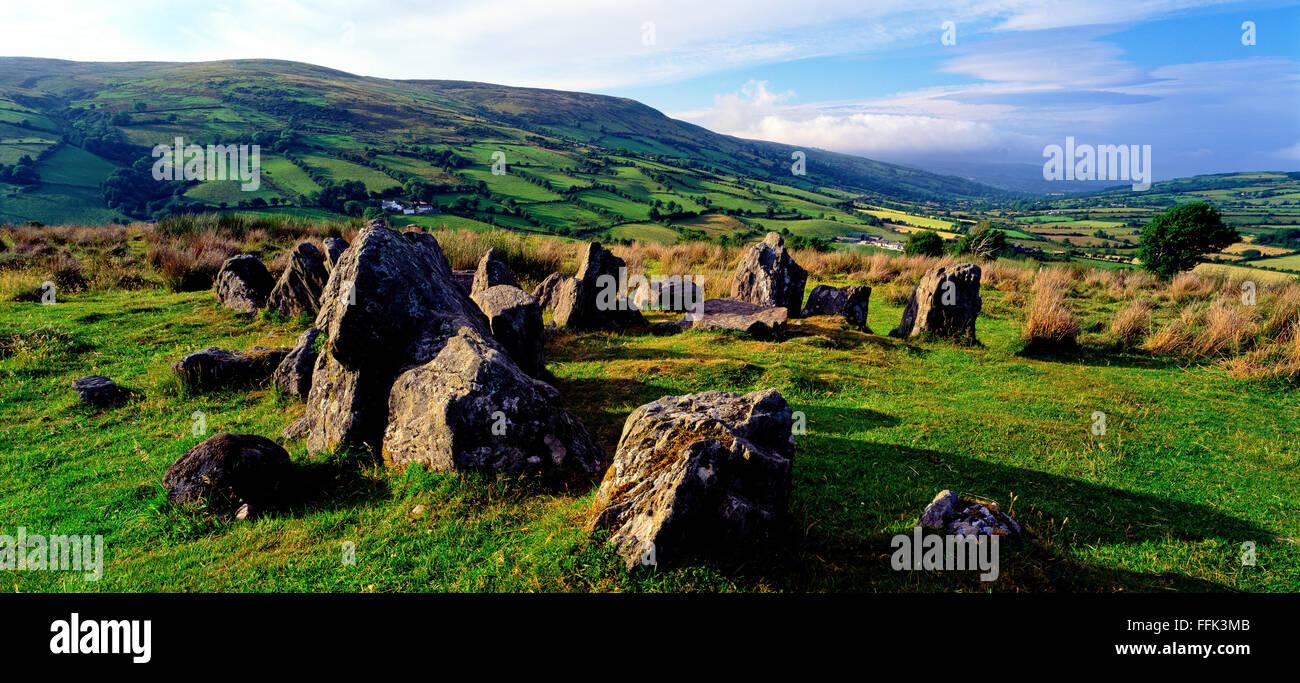 Ossians Grave, Co.Antrim Glens of Antrim Northern Ireland - Stock Image