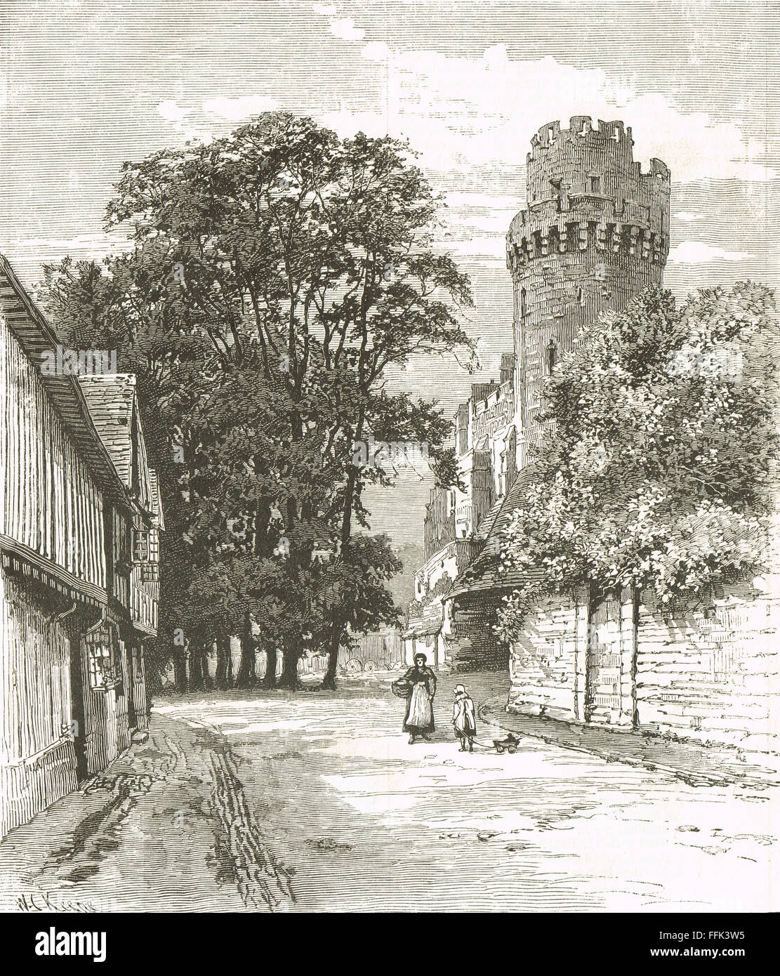 Caesar's Tower Warwick Castle England - Stock Image