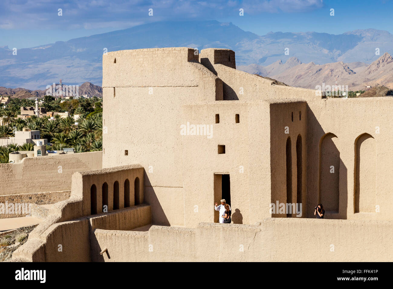 Tourists Visiting Bahla Fort, Ad Dakhiliyah Region, Oman - Stock Image
