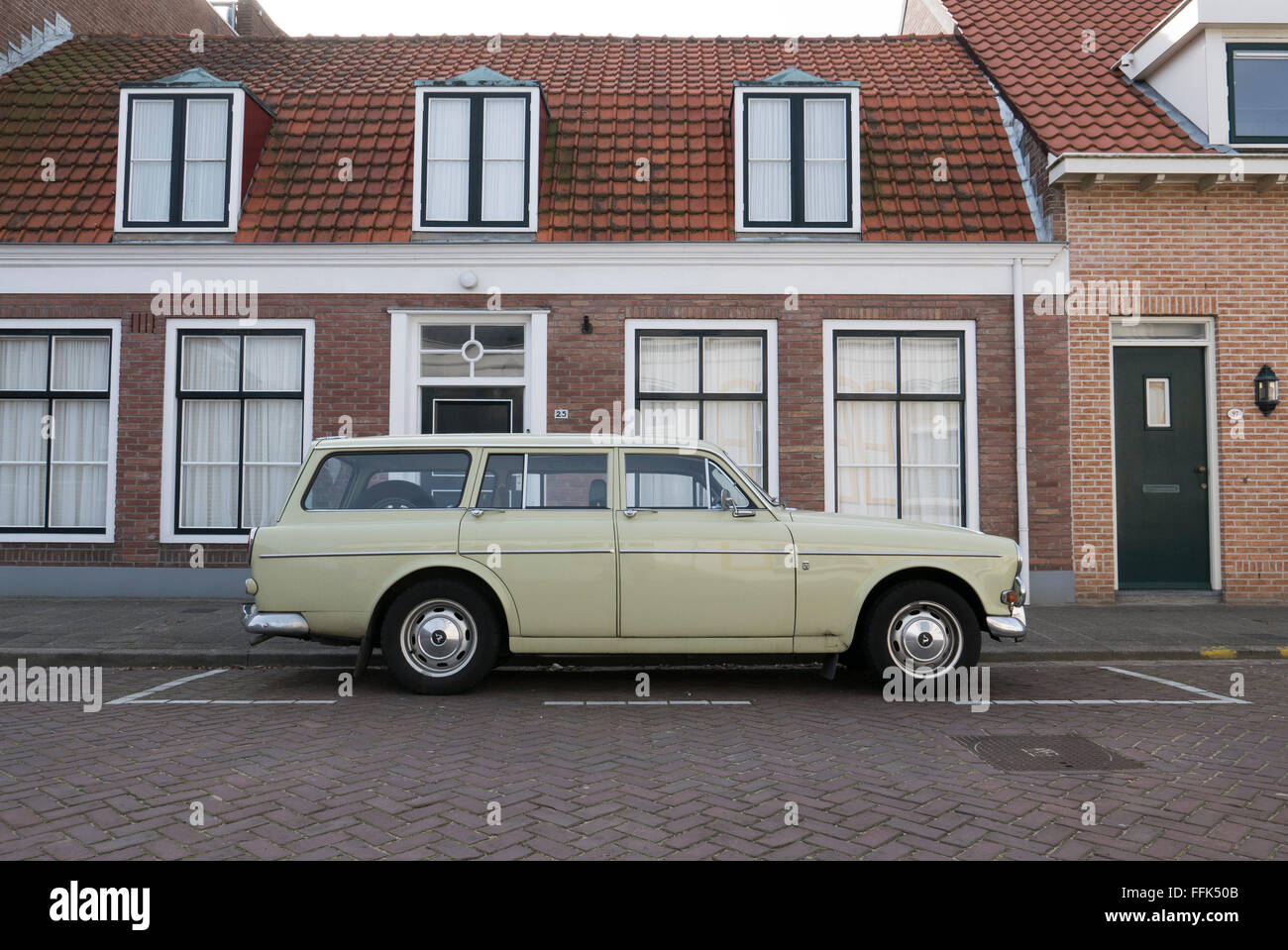 Volvo oldtimer, Domburg, North Sea Coast, Zeeland, Netherlands - Stock Image