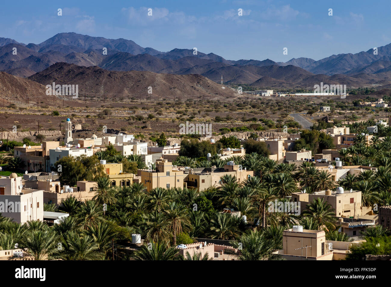 The Town Of Bahla Viewed From The Fort, Ad Dakhiliyah Region; Oman - Stock Image