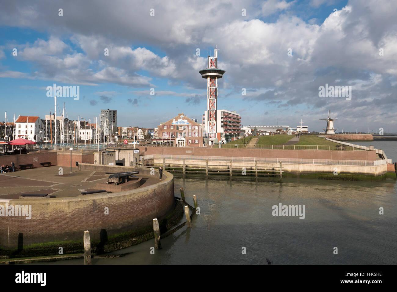 Hafen, Vlissingen, Provinz Seeland, Niederlande | harbour, Vlissingen, North Sea Coast, Zeeland, Netherlands - Stock Image