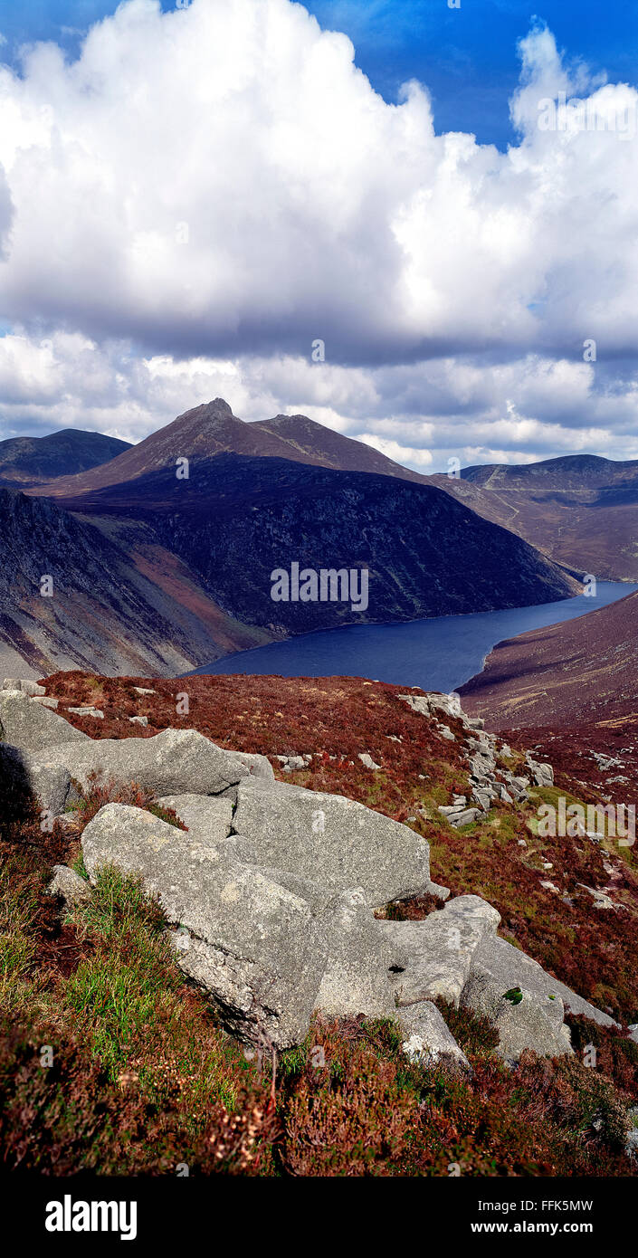 Slieve Crom Mourne mountains Mournes Down Northern Ireland - Stock Image