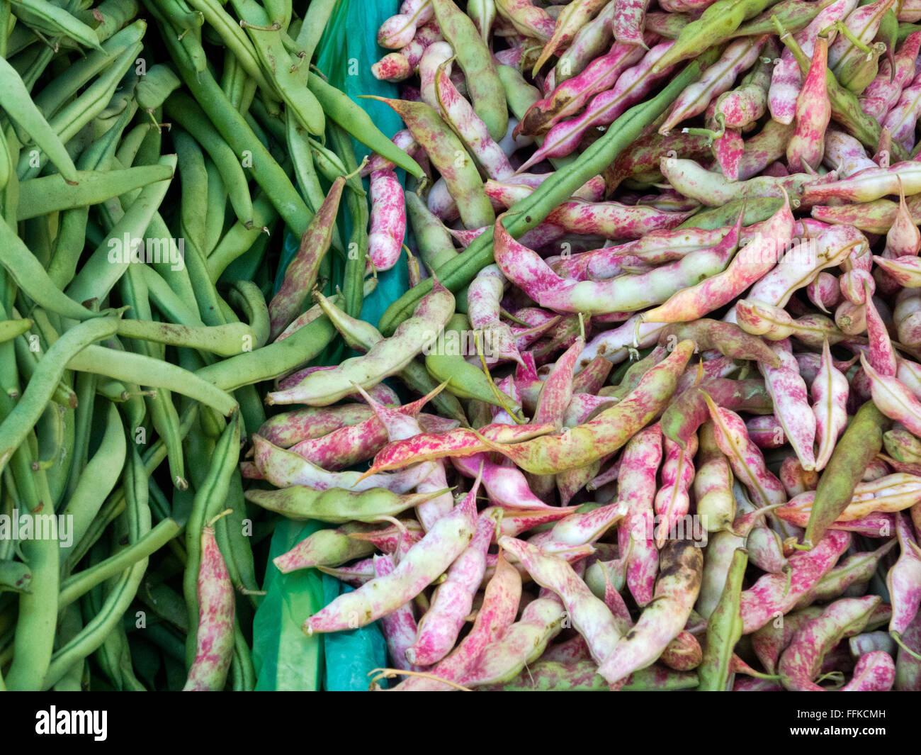 Griechenland, Kreta, Messara-Ebene, Samstagsmarkt in Mires, hier trifft man sich zwischen Obst und Gemüse, Fisch, Stock Photo