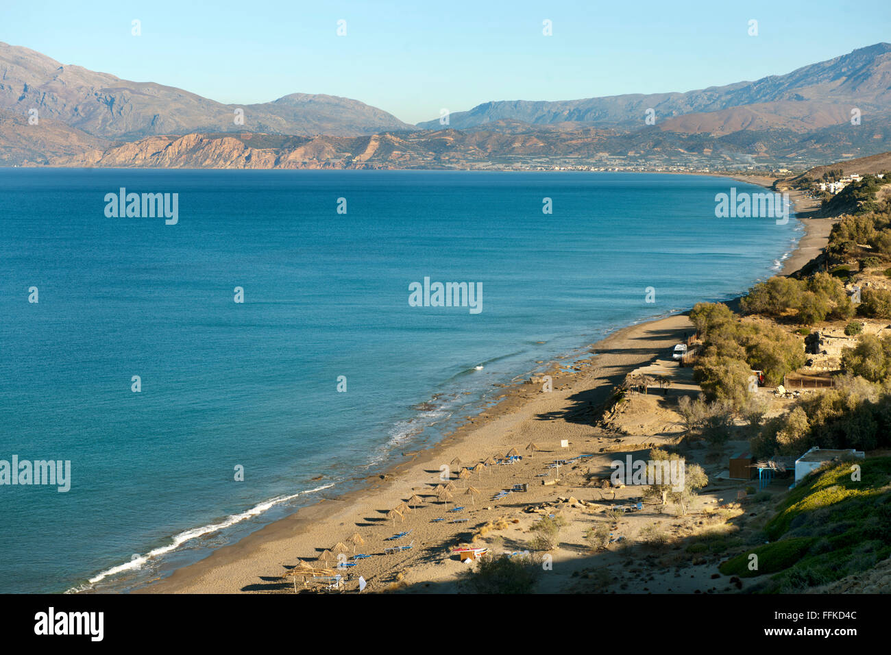 Griechenland, Kalamaki, Bucht von Messara, Komos-Strand - Stock Image