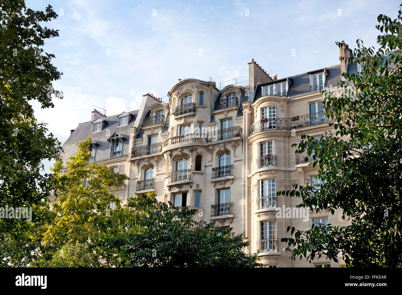 Appartments in Montmartre Paris France - Stock Image