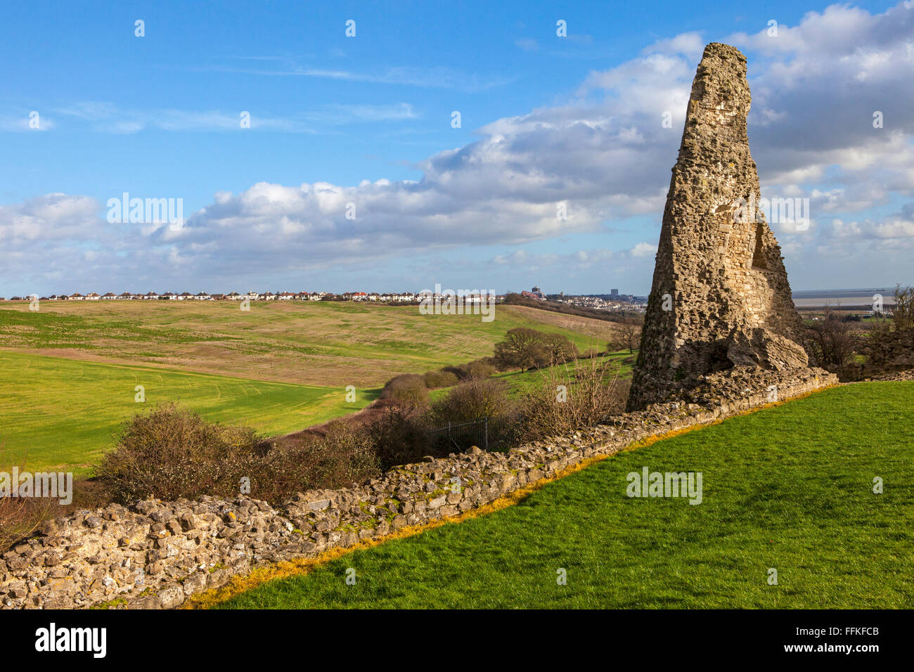 Remains of the historic Hadleigh Castle in Essex, England. - Stock Image