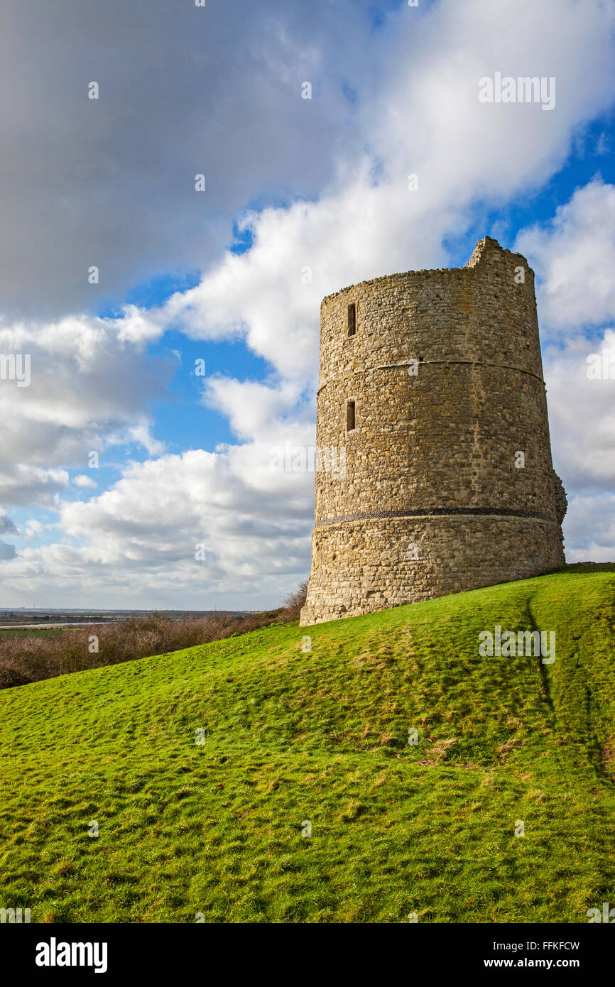 A view of the historic remains of Hadleigh Castle in Essex, England. - Stock Image