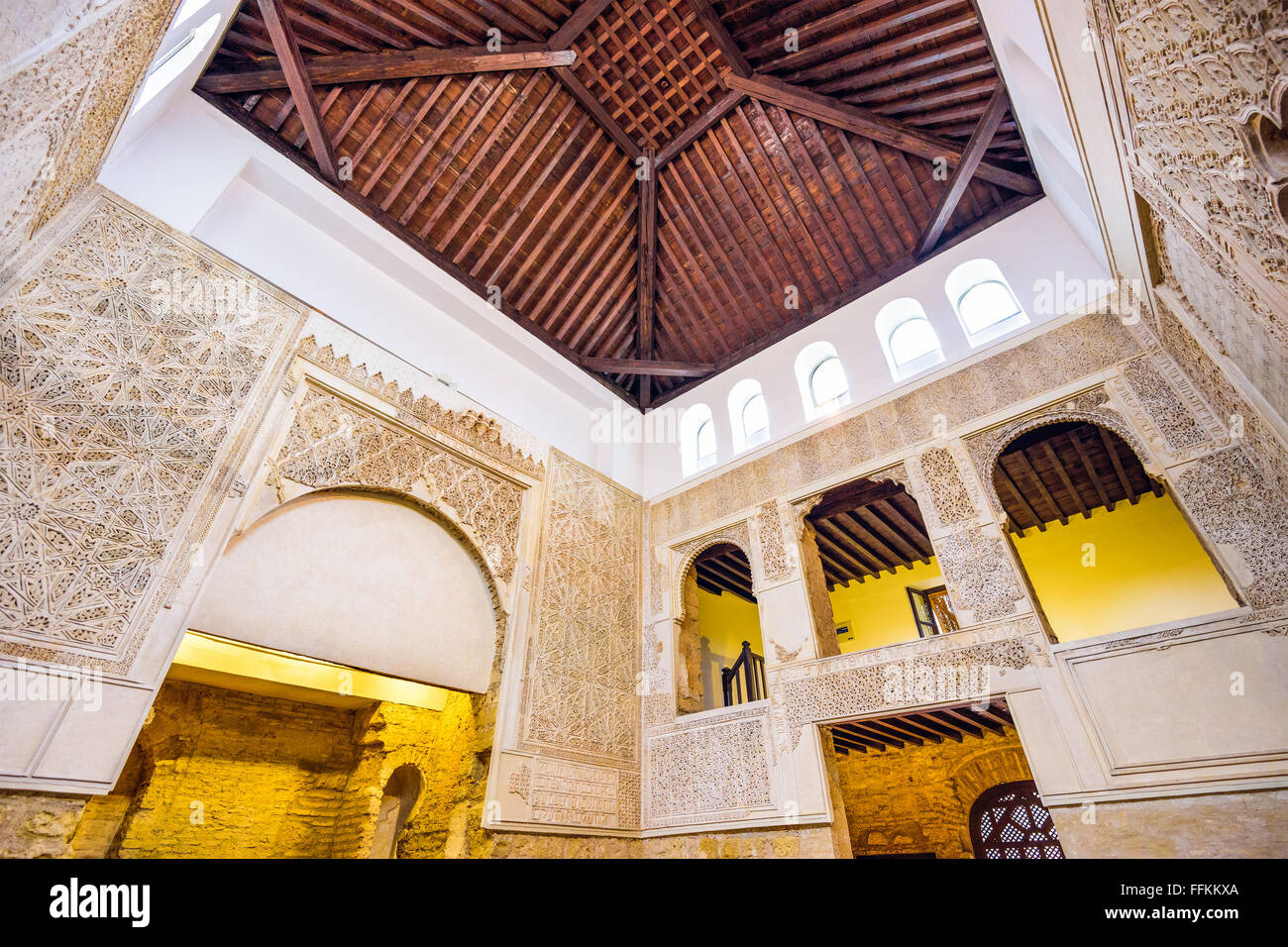 The Cordoba Synagogue interior in Cordoba, Spain. - Stock Image