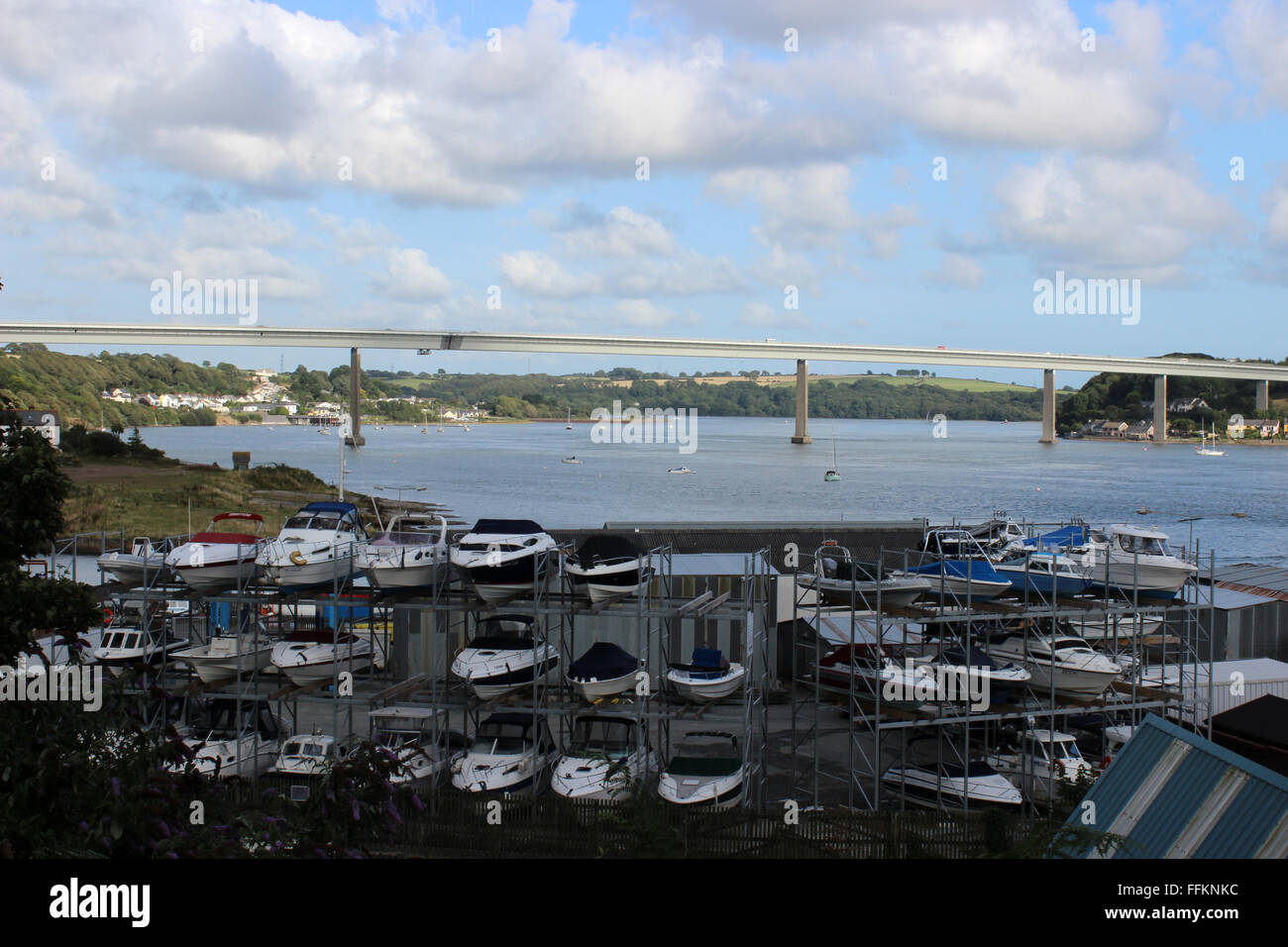 Yachts in Neyland yachting club Dyfed Wales Stock Photo