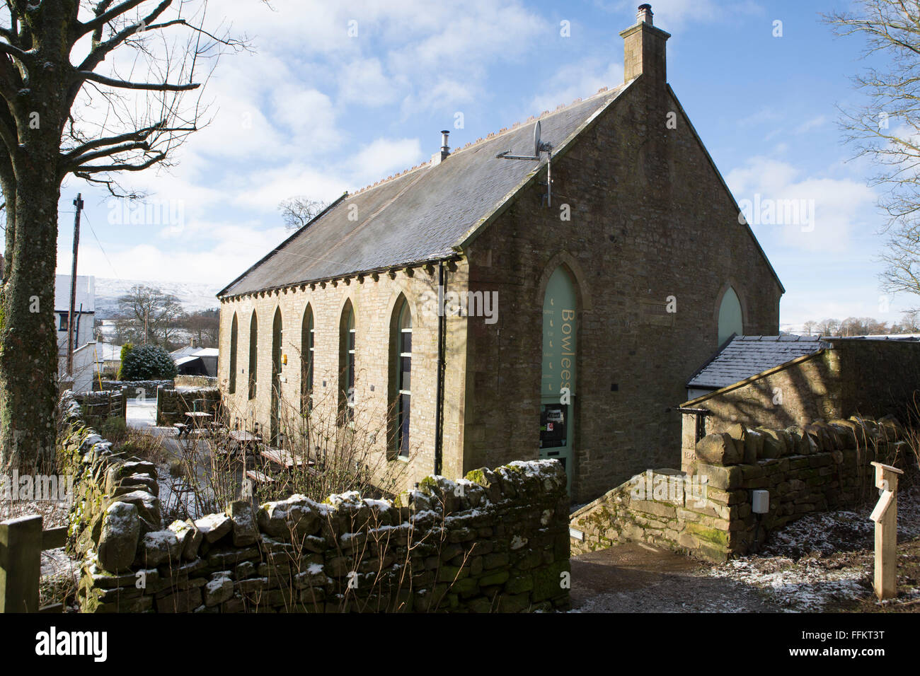 Bowlees Visitor Centre in Upper Teesdale in County Durham, England. The centre houses a gift shop and a cafe. - Stock Image