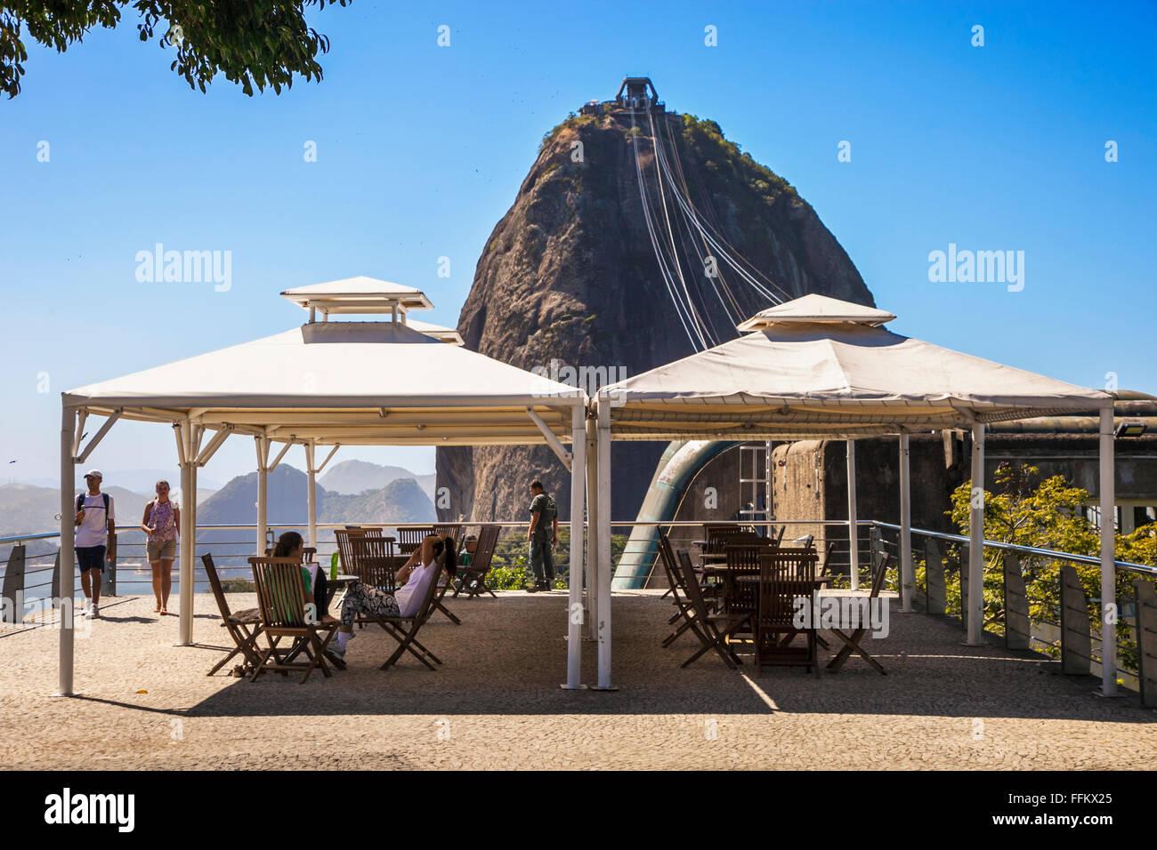 Sugarloaf Mountain. Pao de Azucar . Rio de Janeiro. Brazil - Stock Image