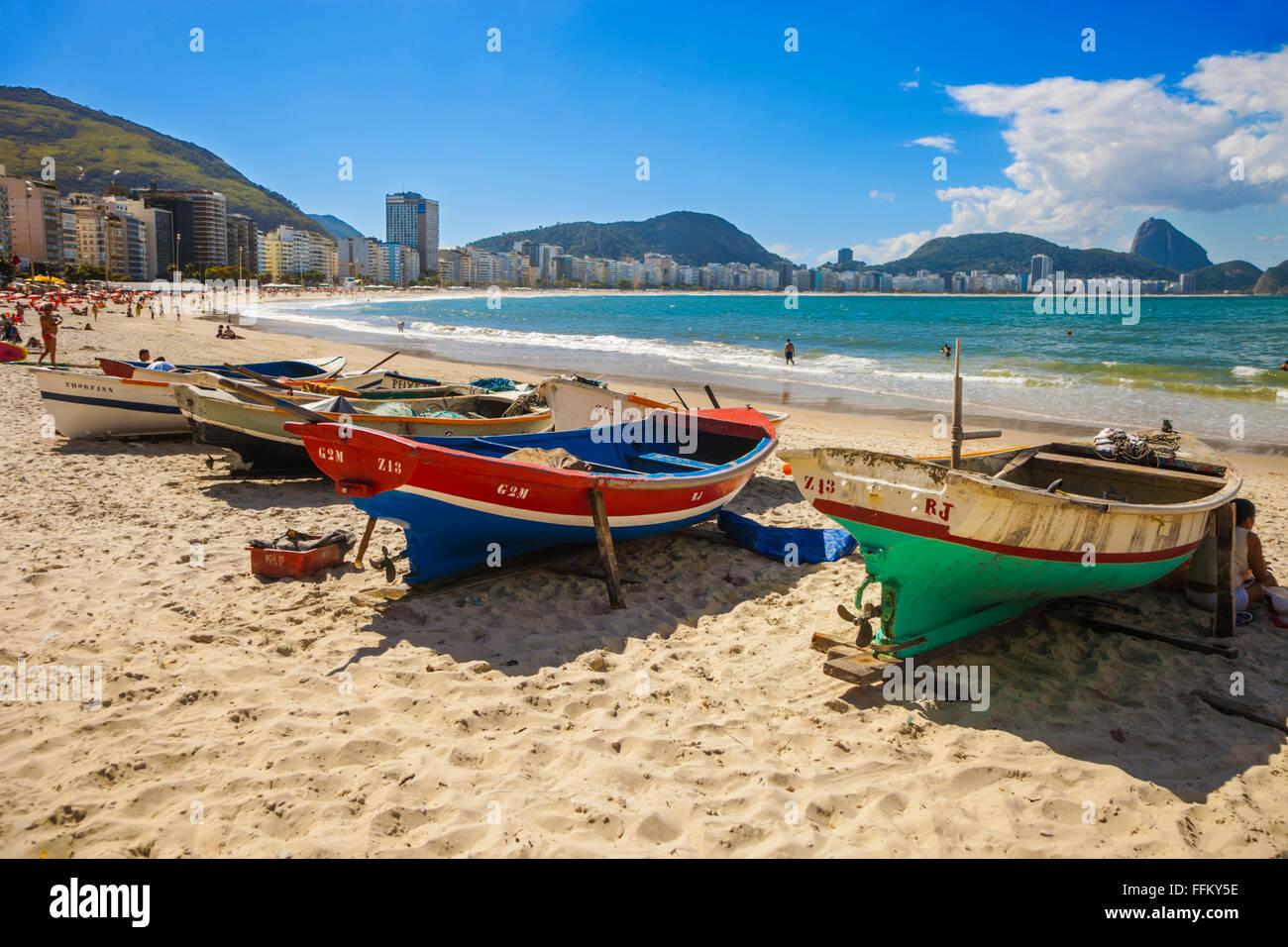 Copacabana Beach. Rio de Janeiro. Brazil Stock Photo