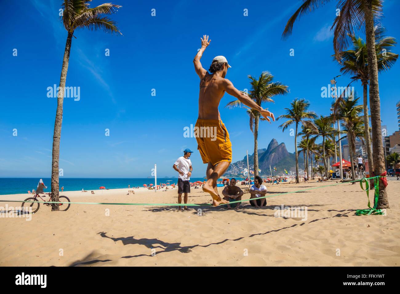 Ipanema Beach. Rio de Janeiro.Brazil - Stock Image