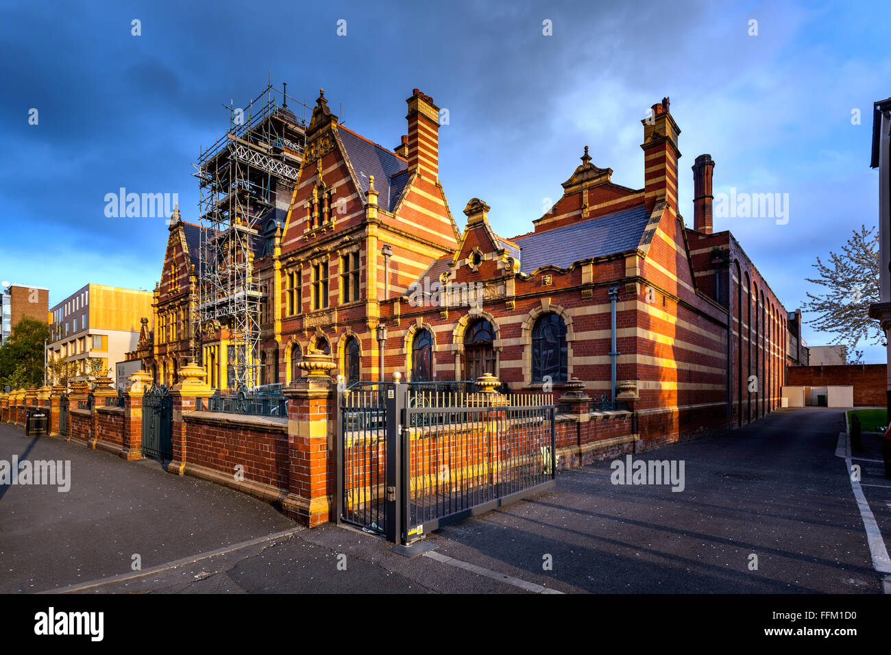 Victoria Baths is the grade 2 listed building in Manchester, England. - Stock Image