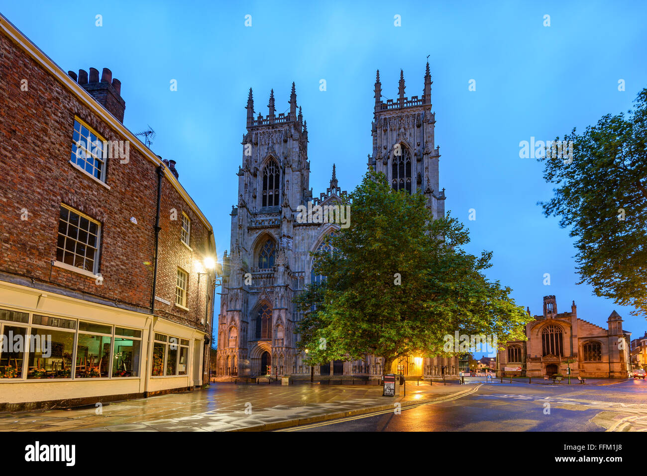 York Minster, is the cathedral of York, England, and is one of the largest of its kind in Northern Europe - Stock Image