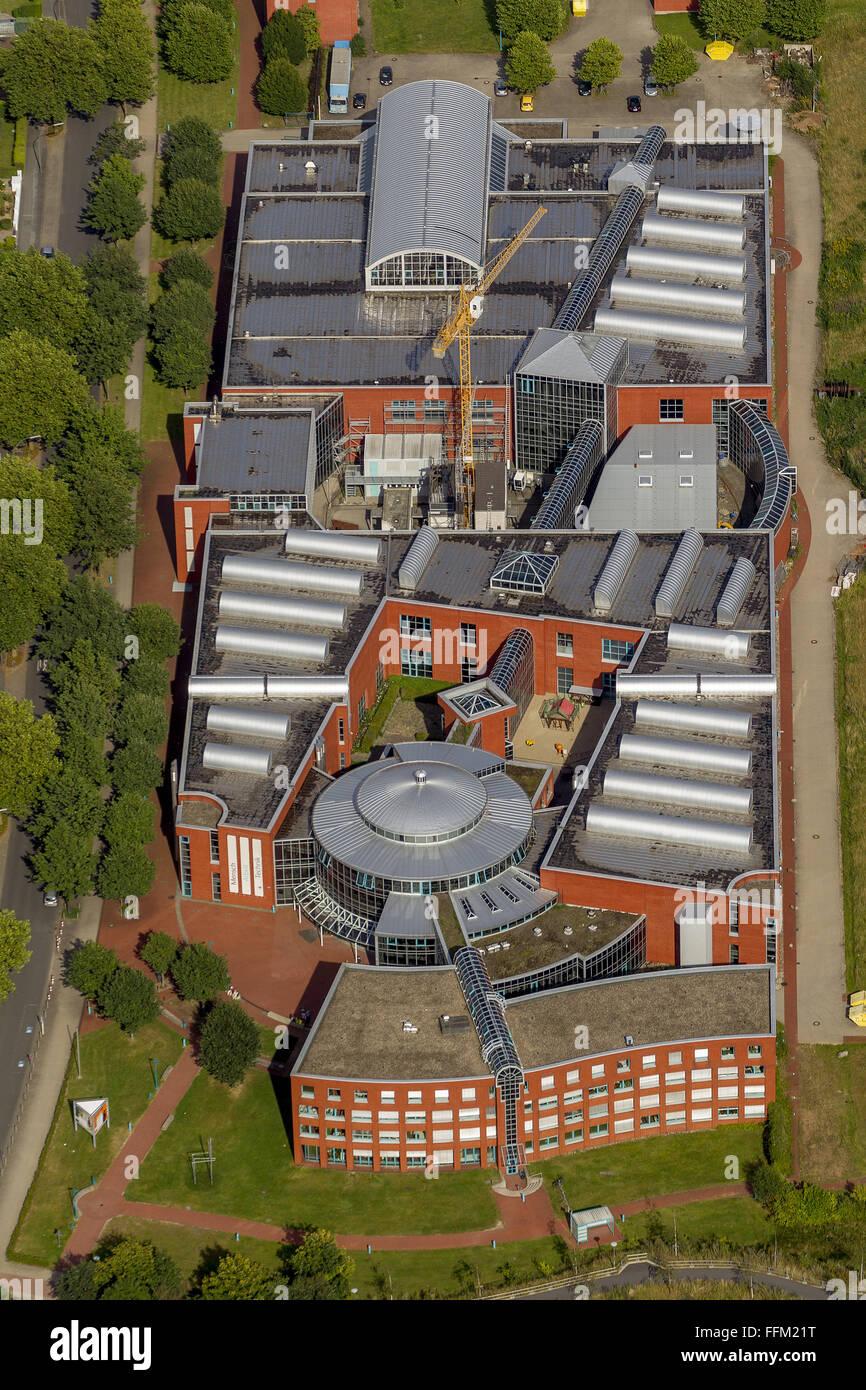 Aerial view, DASA German Arbeitsschutzausstellung Dorstfeld exhibition on occupational safety, Dortmund, Ruhr area, Stock Photo
