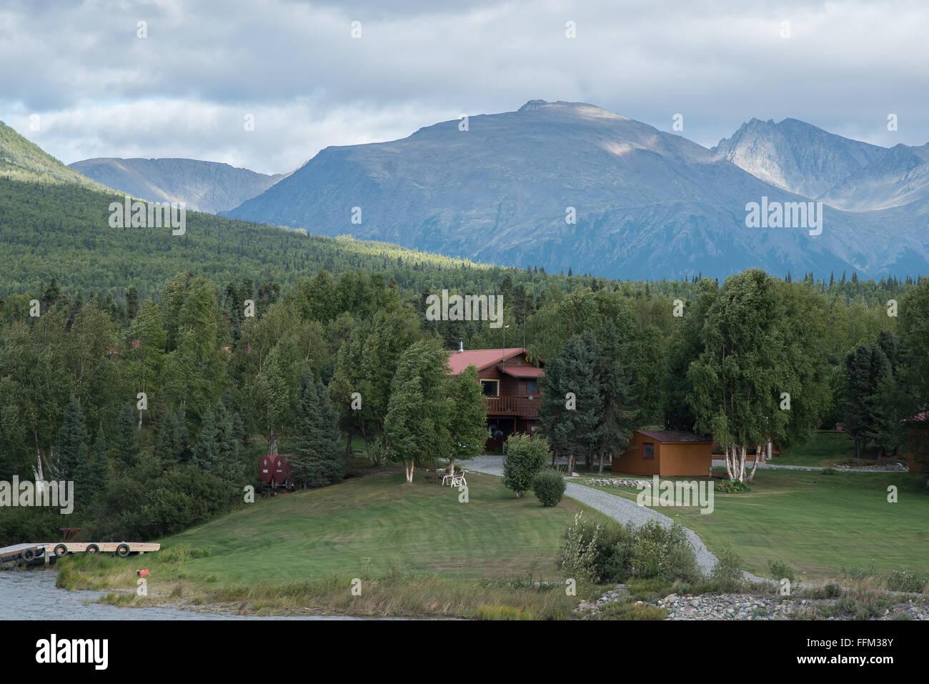 Alaskan getaway - Stock Image