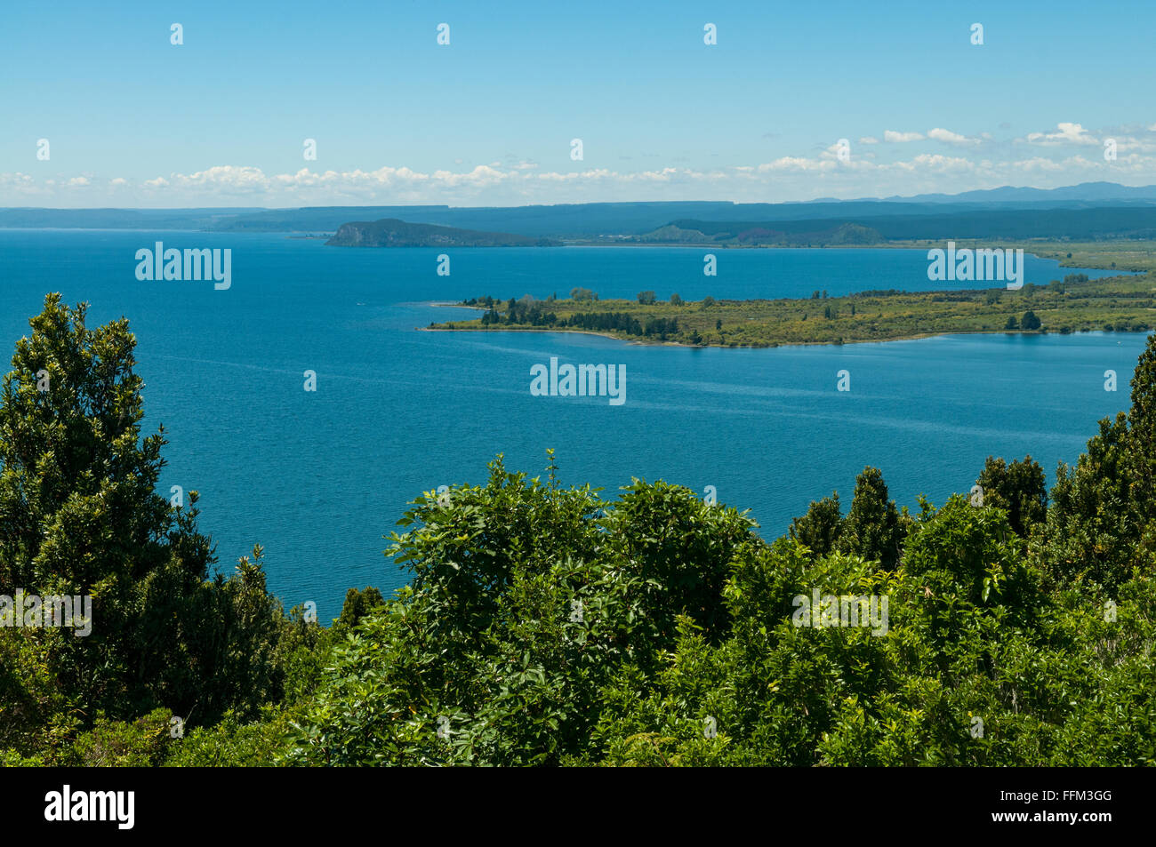 Lake Taupo, near Tokaanu, Waikato, New Zealand - Stock Image
