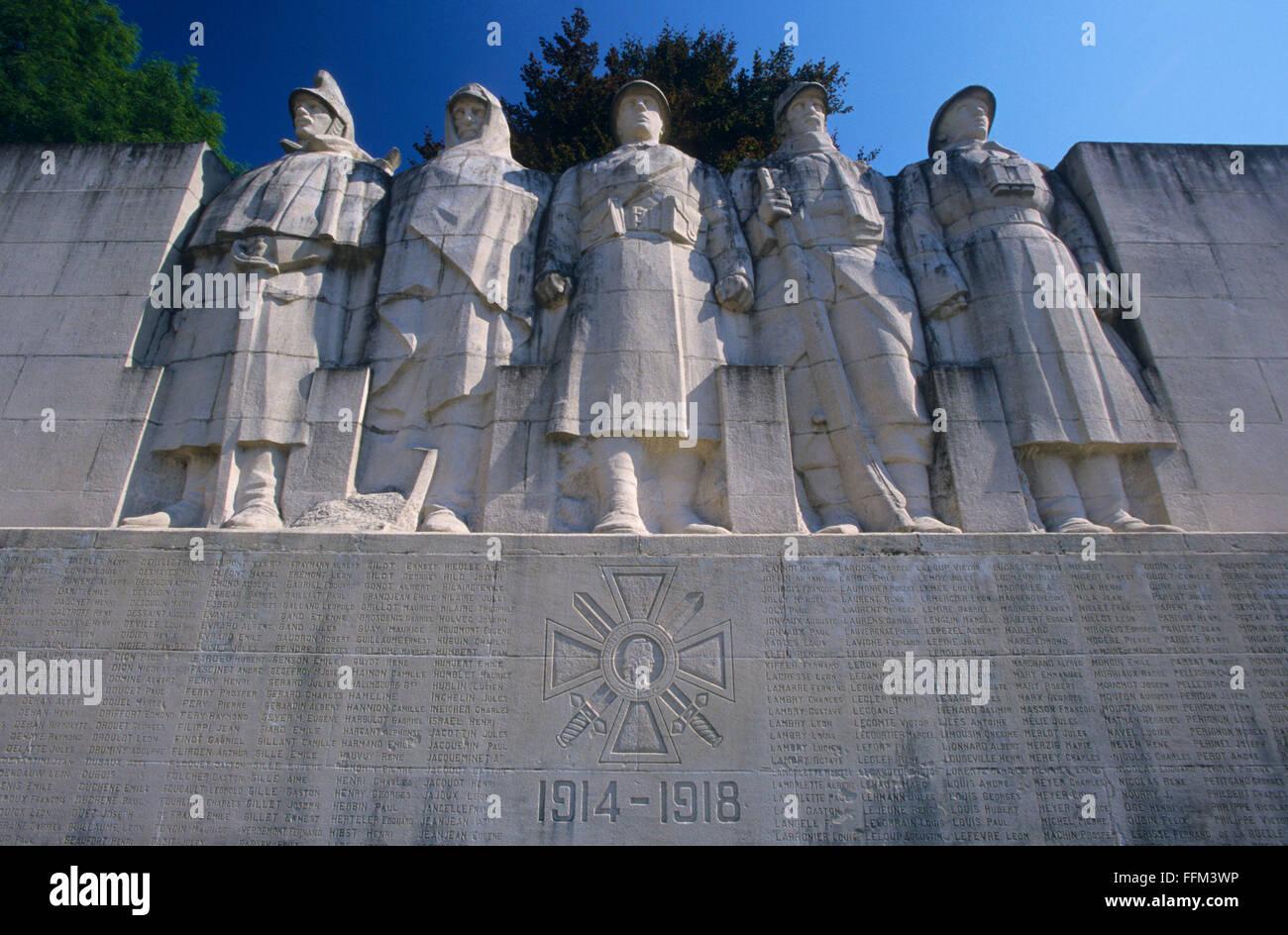 France, Meuse (55), Verdun, memorial to Verdun's soldiers dead during WWI // Meuse (55), Verdun, monument aux enfants Stock Photo