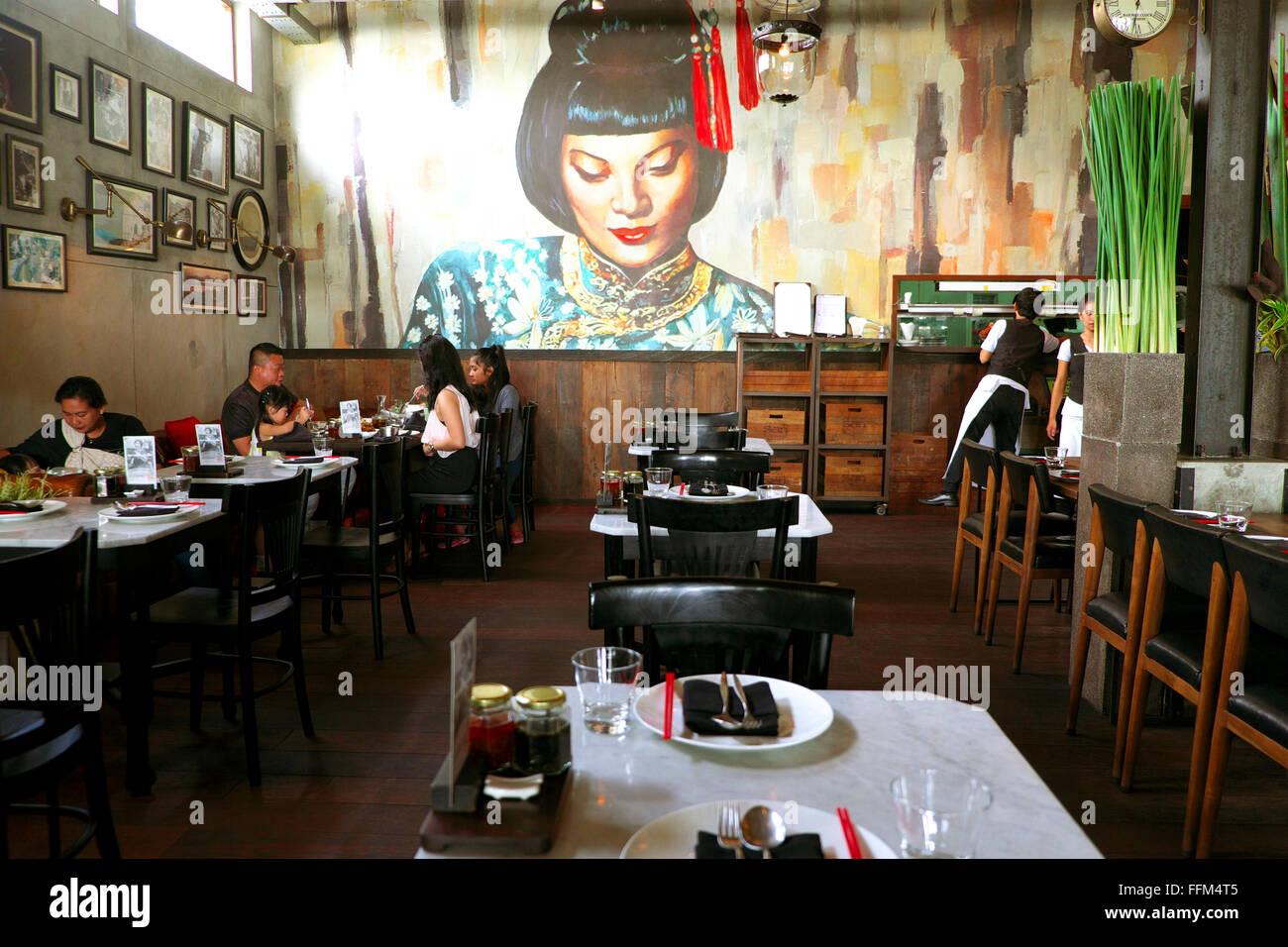 Mama San restaurant interior, Seminyak, Bali - Stock Image