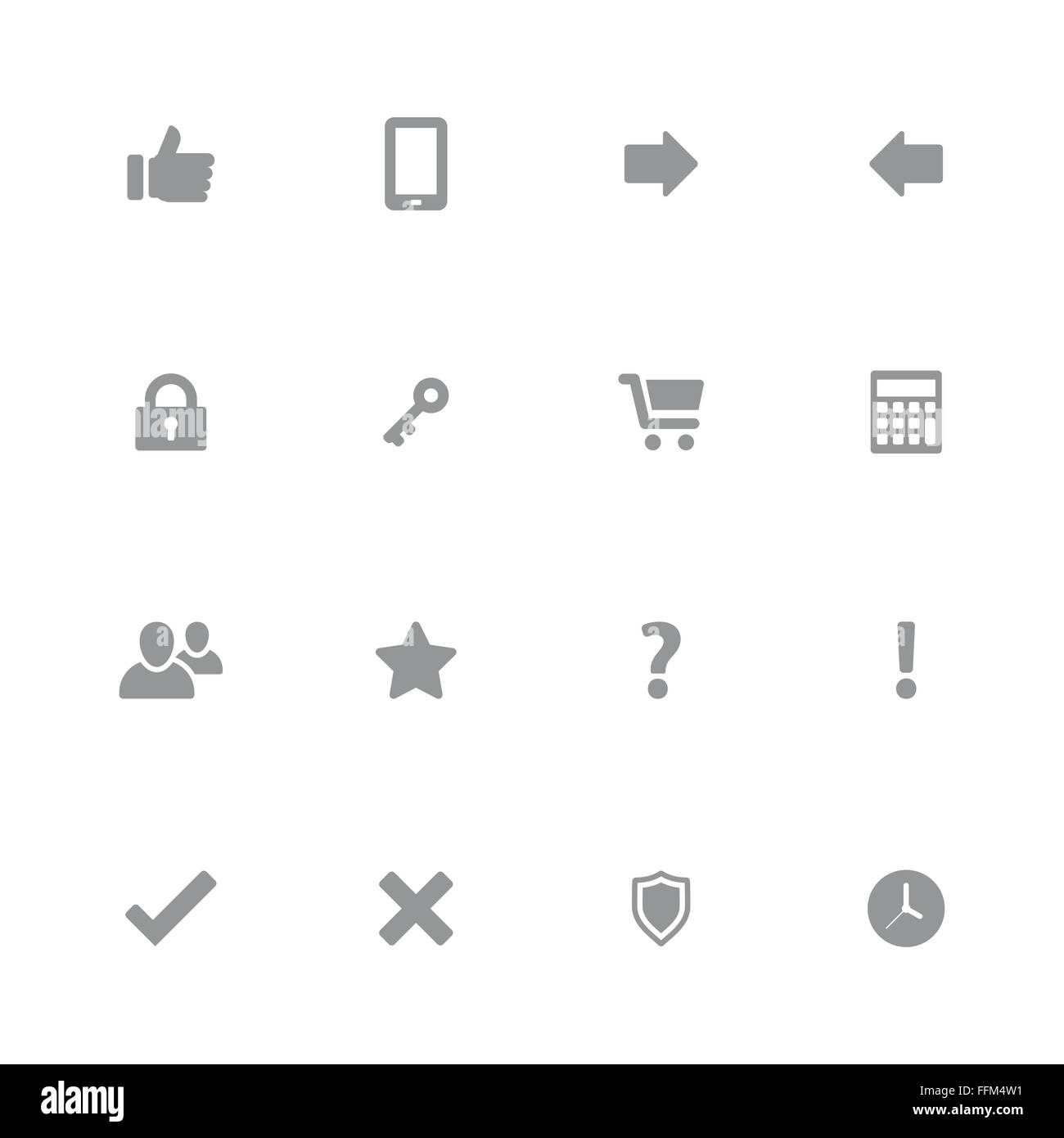 [EPS10] gray web icon set 2 for web design, user interface (UI), infographic and mobile application (apps) - Stock Vector