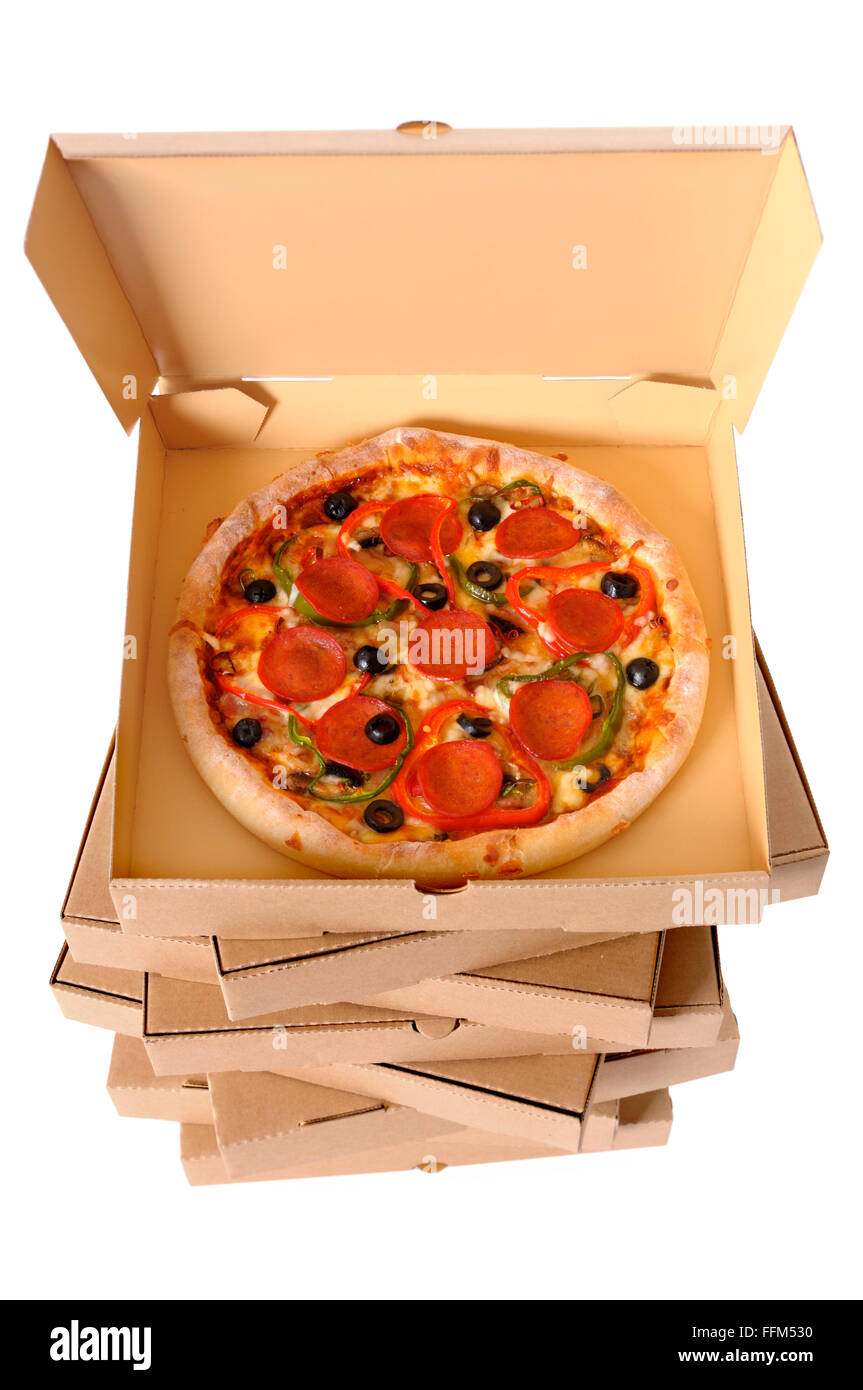 Stacked Pizza Boxes Stock Photos Stacked Pizza Boxes Stock