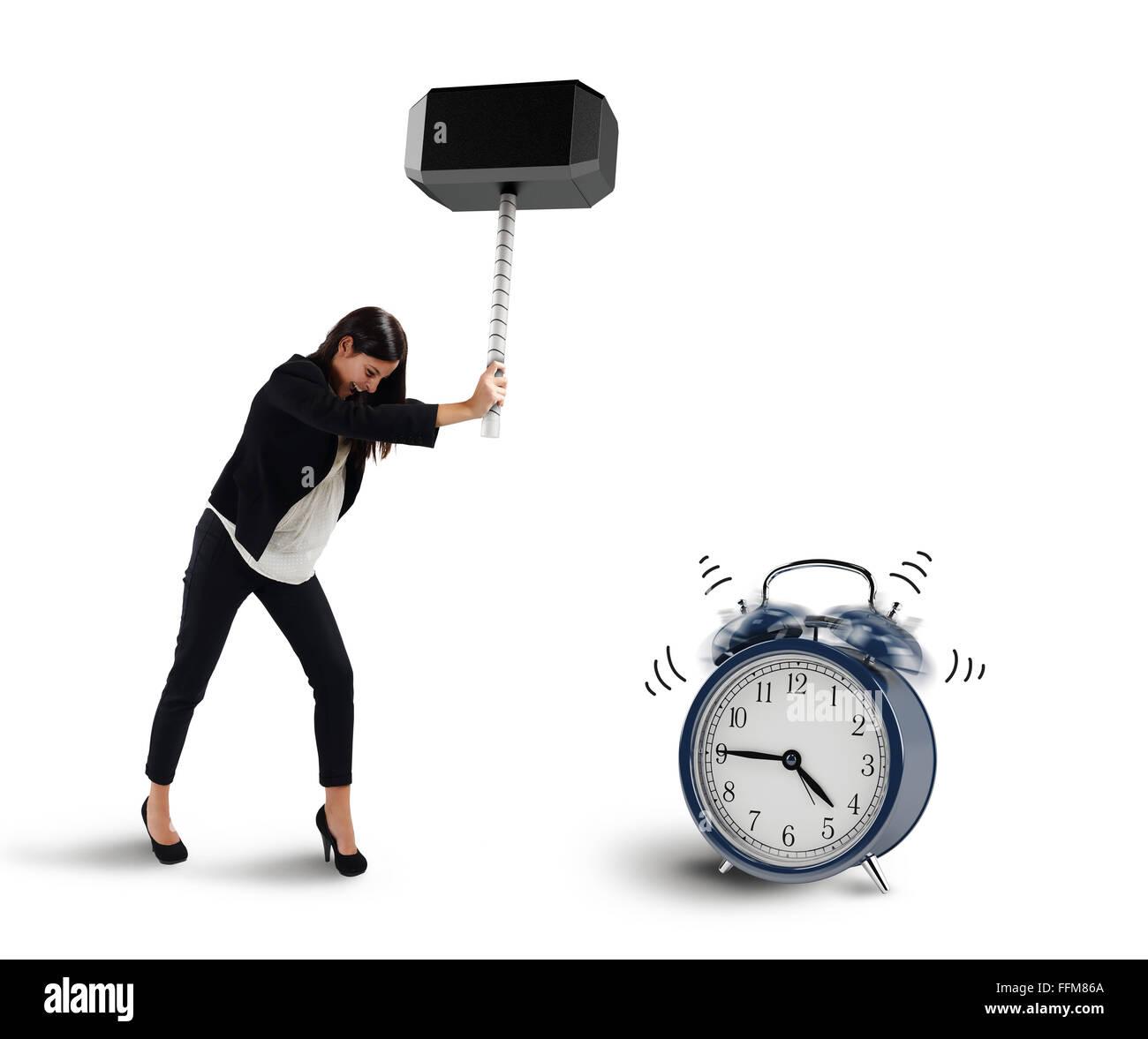 Stop ring alarm - Stock Image