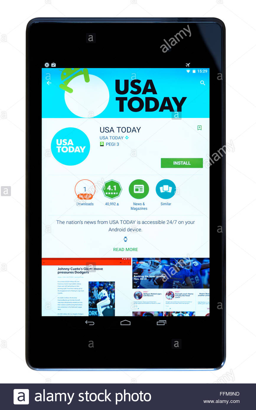 Not Usa android app today working