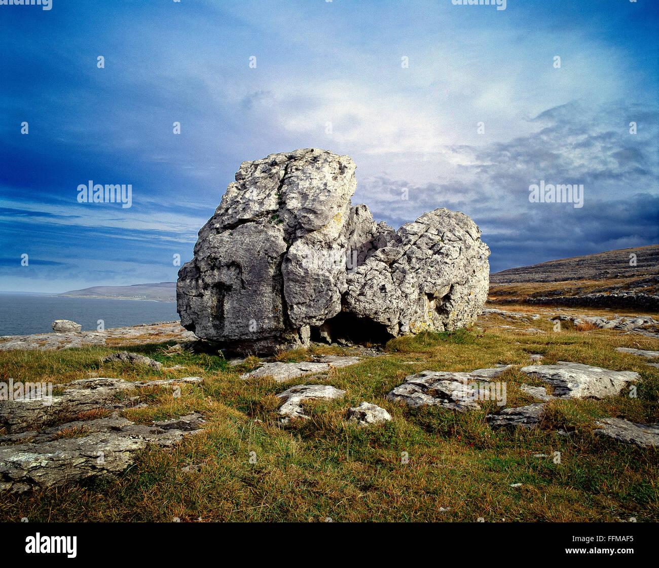 The Burren Clare Ireland - Stock Image