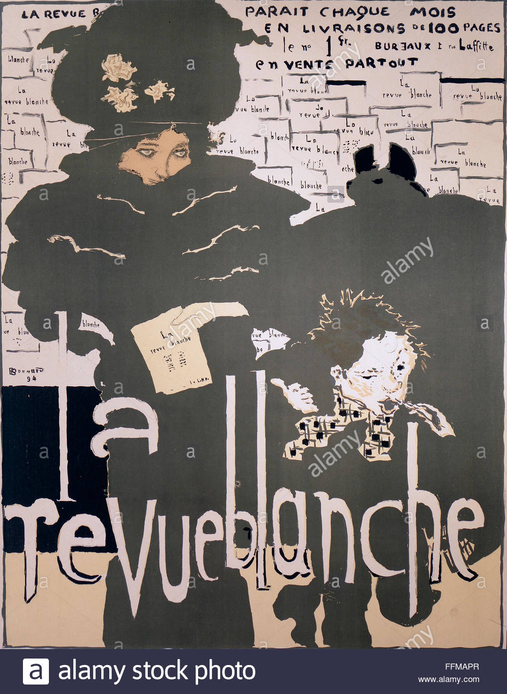 advertising, magazines, 'La Revue Blanche', advertising poster by Pierre Bonnard (1867 - 1947), 76 x 59 - Stock Image