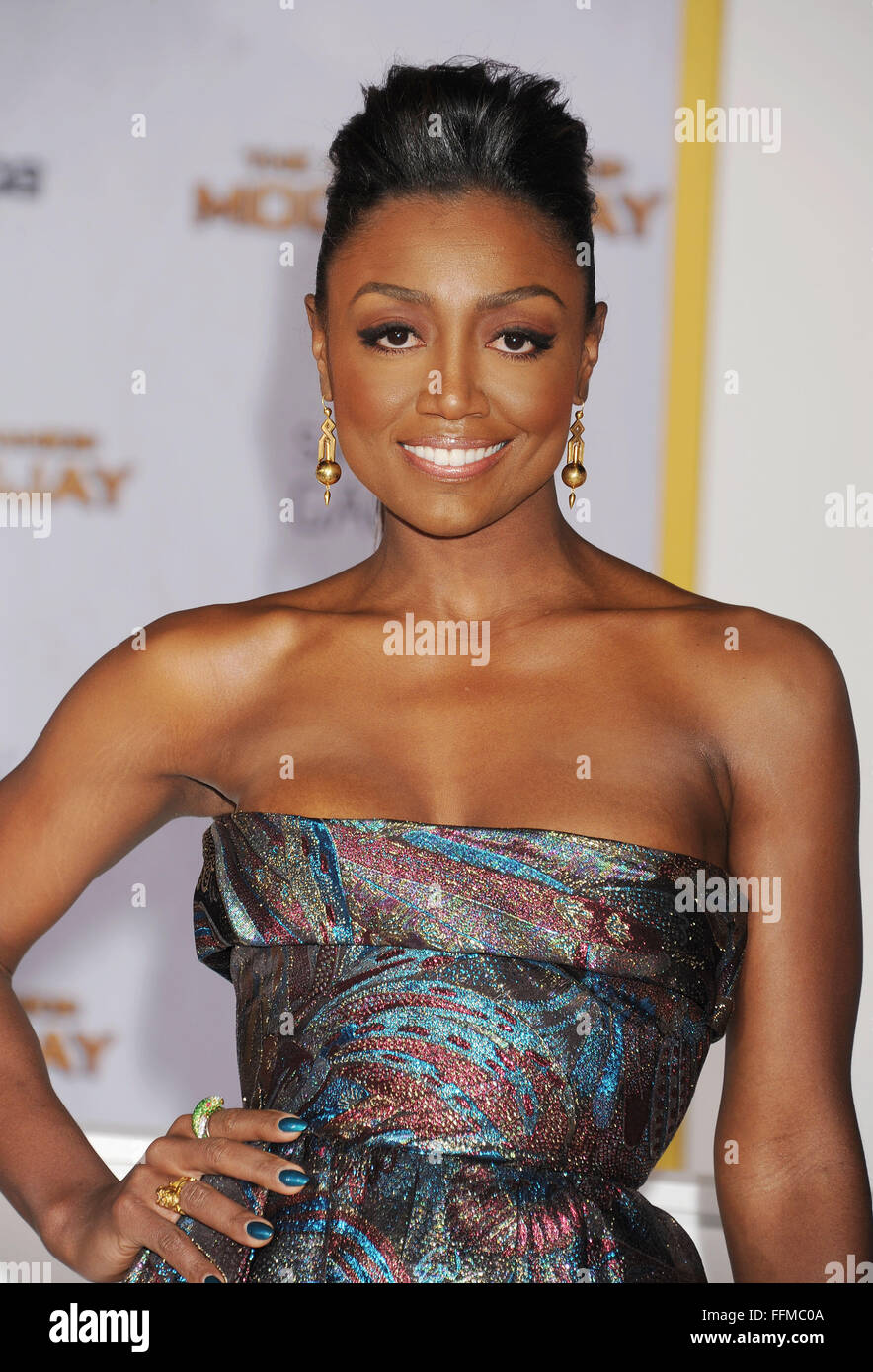 Actress Patina Miller arrives at the 'The Hunger Games: Mockingjay - Part 1' - Los Angeles Premiere at Nokia - Stock Image