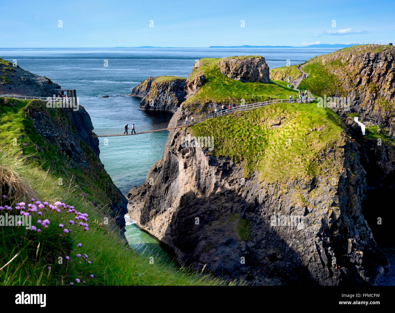 Carrick-a-rede Co Antrim Northern Ireland - Stock Image
