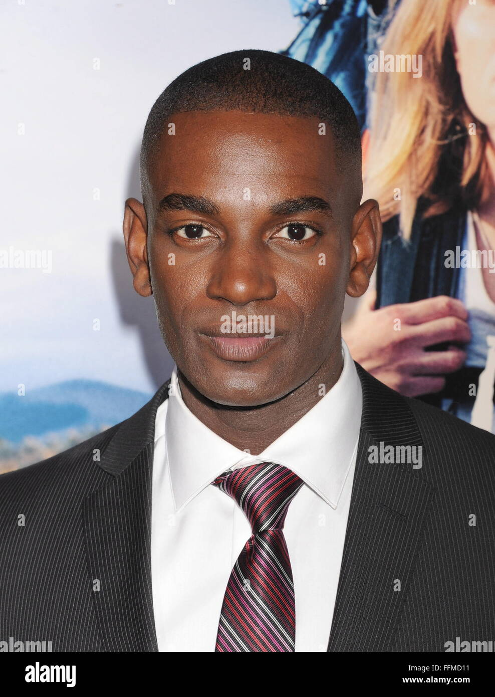 Actor Mo McRae arrives at the Los Angeles premiere of 'Wild' at AMPAS Samuel Goldwyn Theater on November - Stock Image
