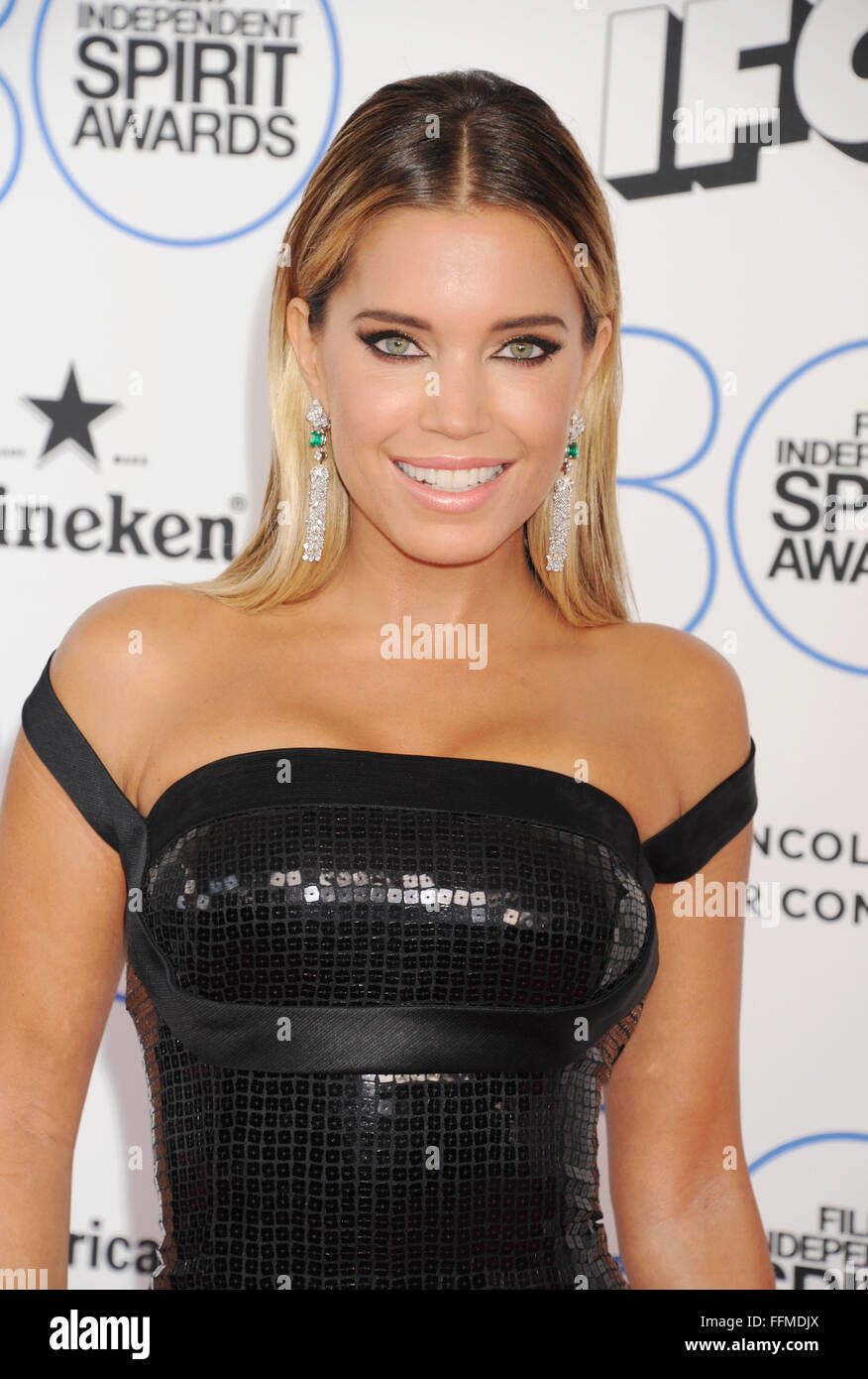 TV personality Sylvie Meis arrives at the 2015 Film Independent Spirit Awards on February 21, 2015 in Santa Monica, - Stock Image