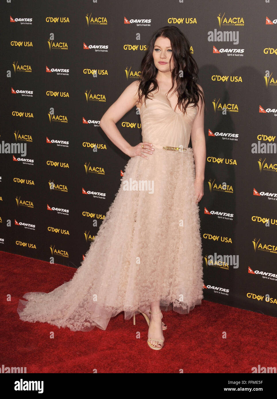 5f21741666c Actress Emilie De Ravin attends the 2015 G Day USA Gala featuring the AACTA  International