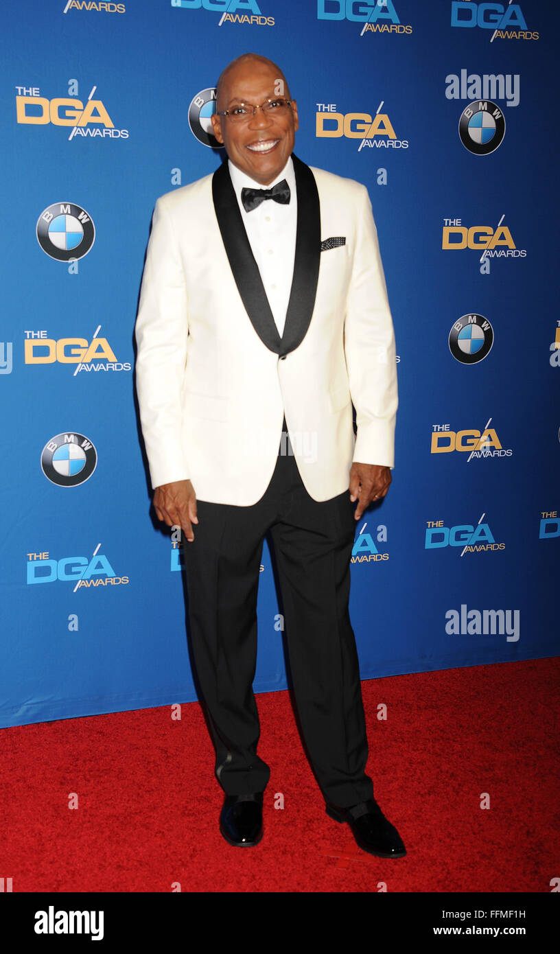 President of DGA Paris Barclay attends the 67th Annual Directors Guild Of America Awards at the Hyatt Regency Century - Stock Image
