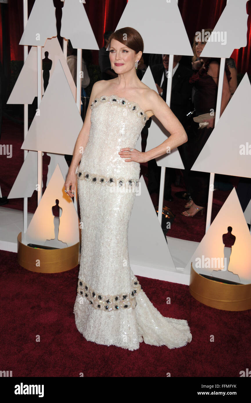 Actress Julianne Moore arrives at the 87th Annual Academy Awards at Hollywood & Highland Center on February - Stock Image