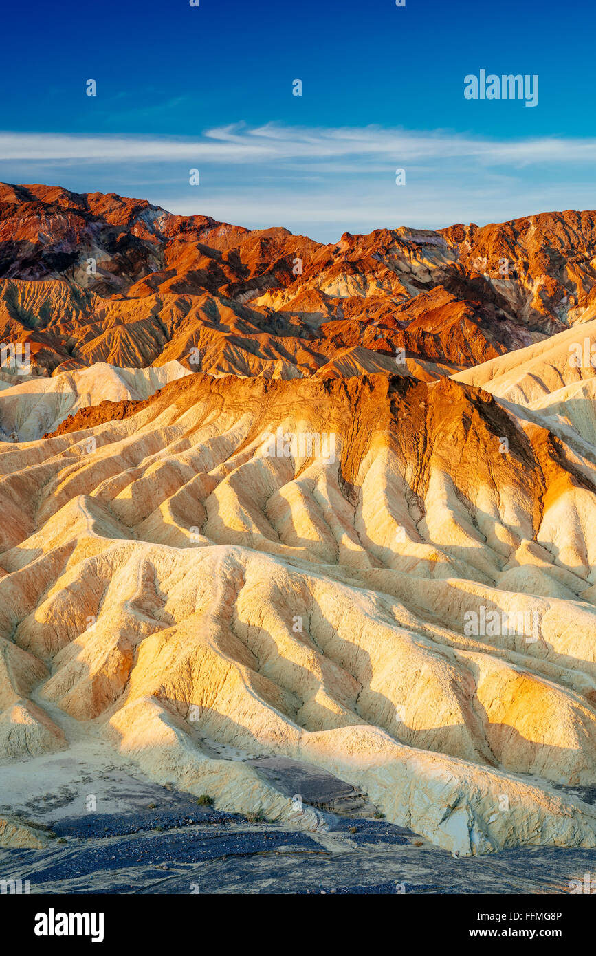 Sunrise at Zabriskie Point in Death Valley National Park, California - Stock Image