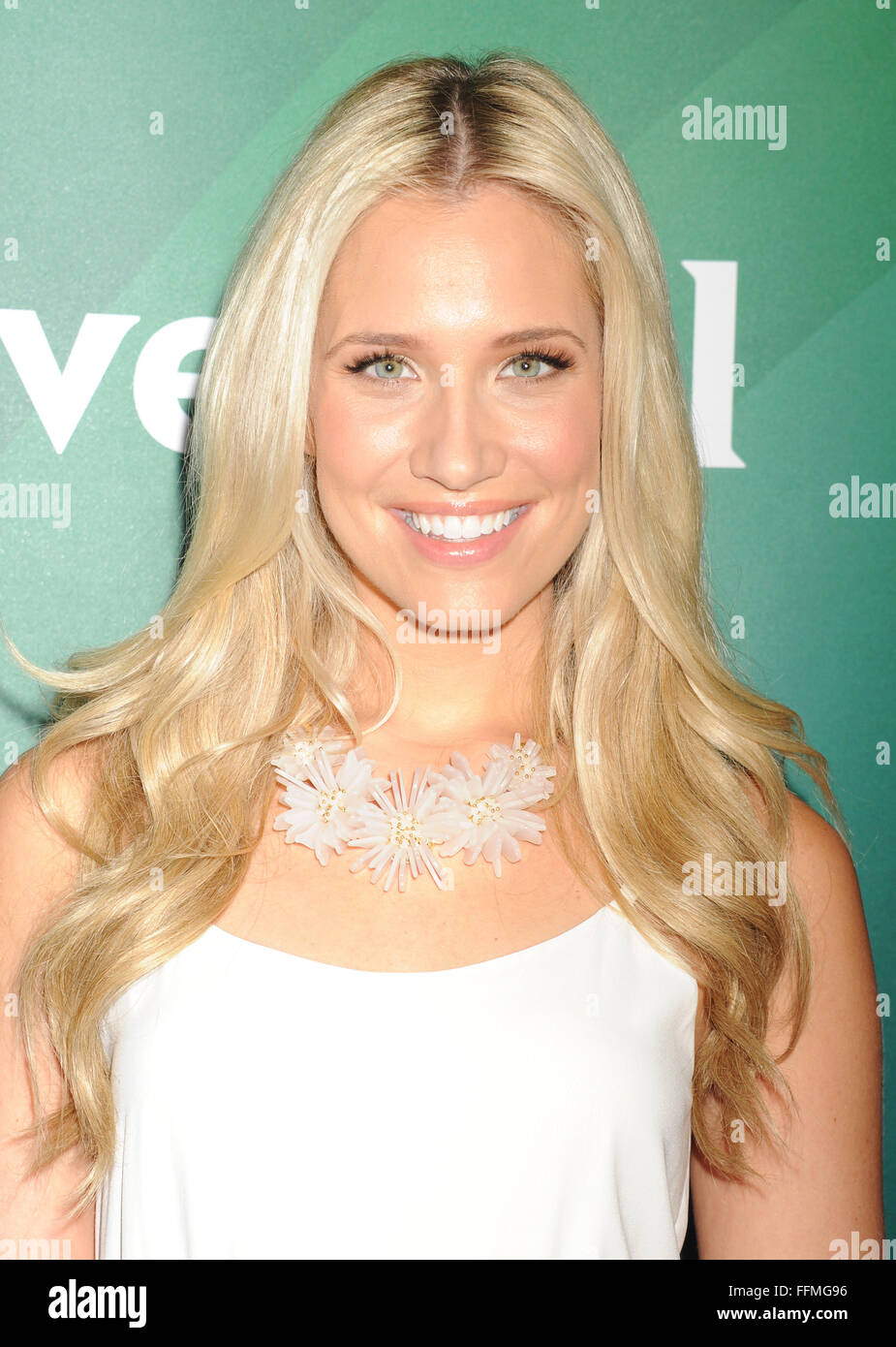 Actress Kristine Leahy attends the 2015 NBCUniversal Summer Press Day held at the The Langham Huntington Hotel and Stock Photo
