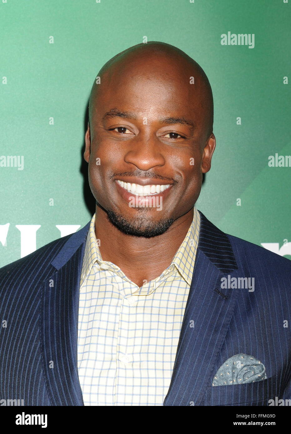 Actor Akbar Gbajabiamila attends the 2015 NBCUniversal Summer Press Day held at the The Langham Huntington Hotel - Stock Image