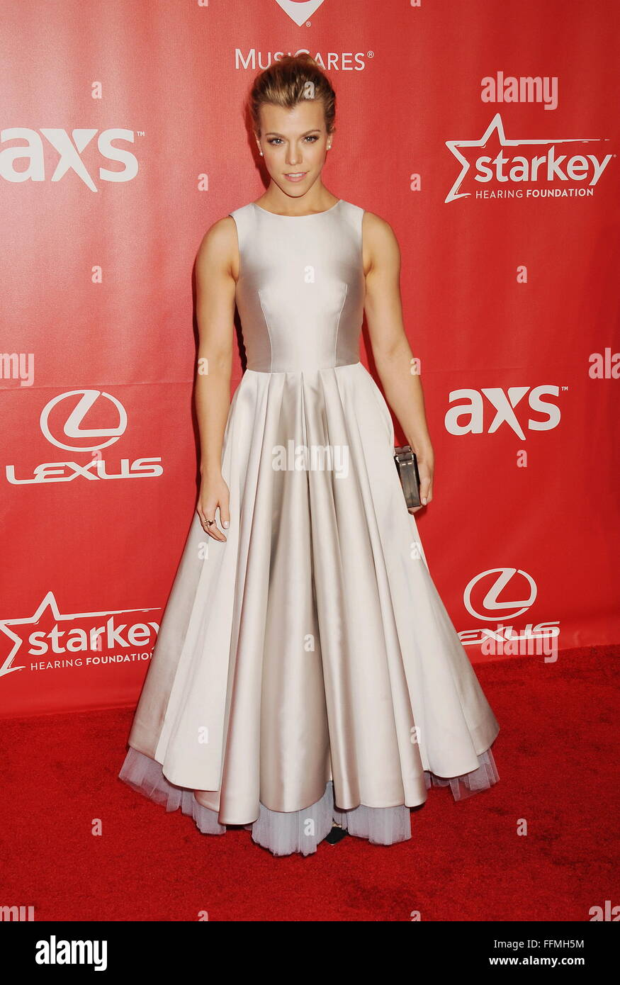 Musician Kimberly Perry of the Band Perry attends the 2015 MusiCares Person of the Year Gala honoring Bob Dylan Stock Photo