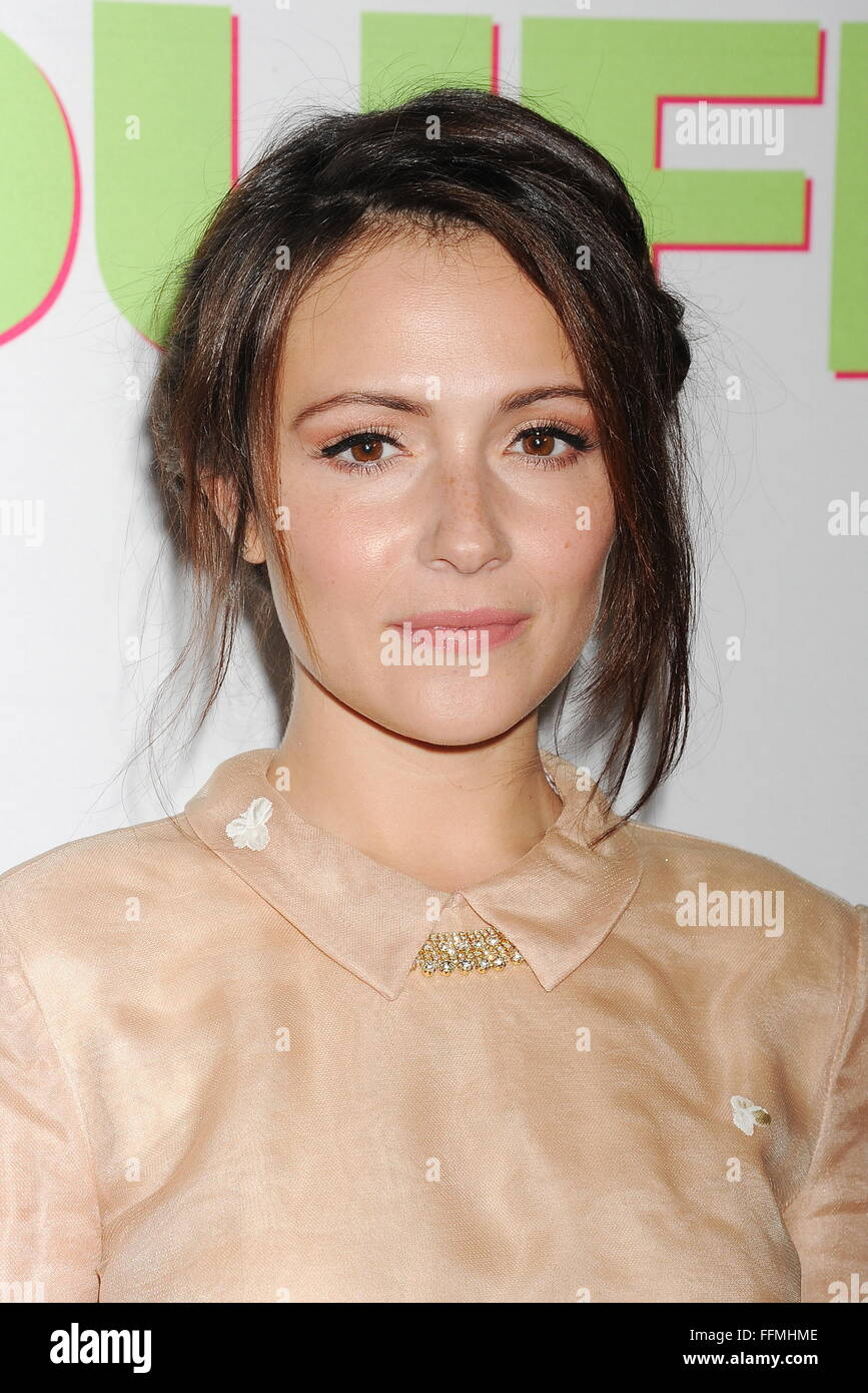 "Actress Italia Ricci arrives at ""The Duff"" Los Angeles special screening at the TCL Chinese 6 Theatres on February Stock Photo"