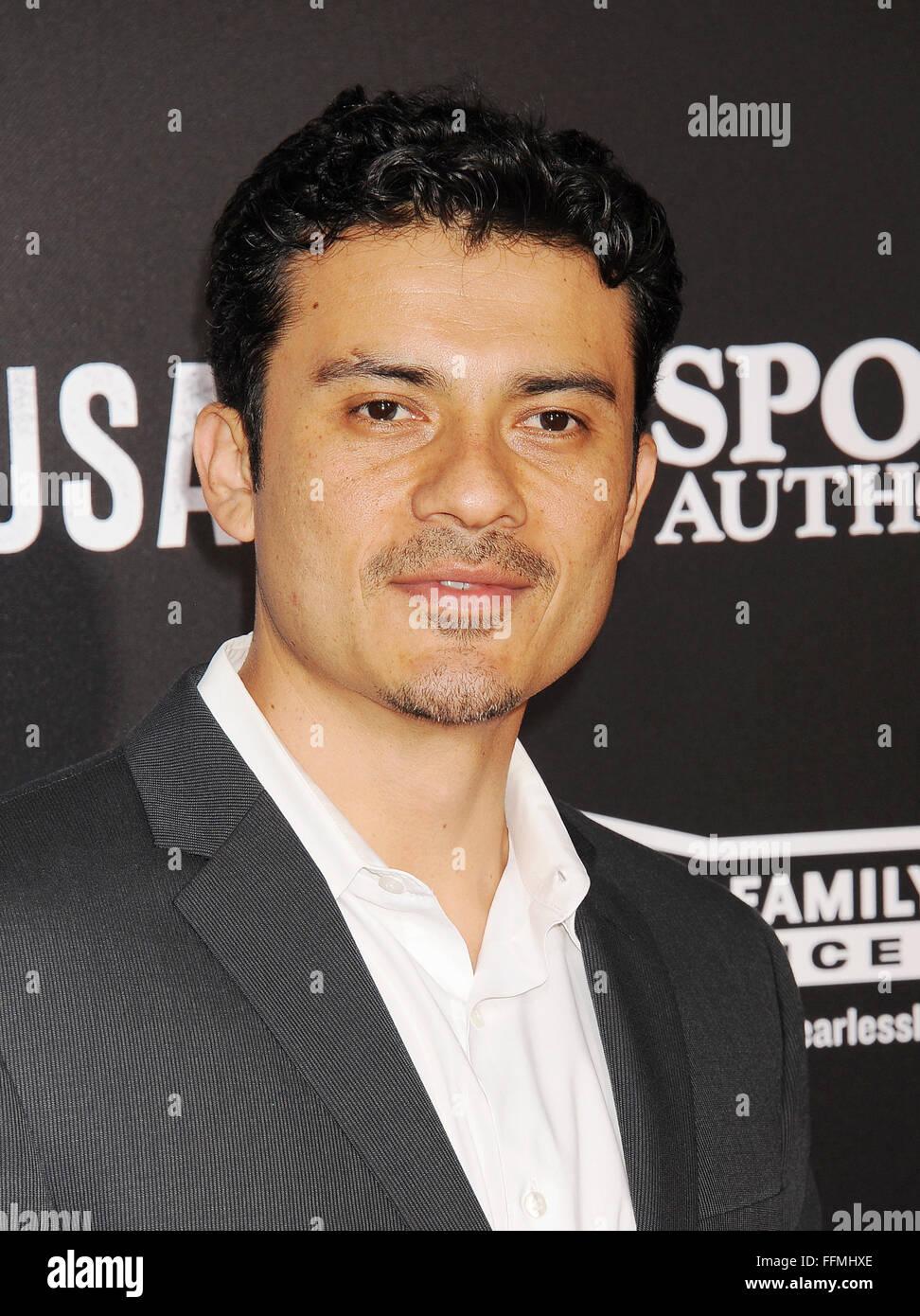 Actor Rigo Sanchez arrives at the World Premiere of Disney's 'McFarland, USA' at the El Capitan Theatre - Stock Image