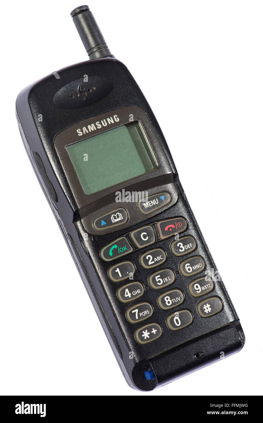 technics, telephone, mobile phone, Samsung SGH-250, South Korea, 1996, Additional-Rights-Clearences-NA - Stock Image