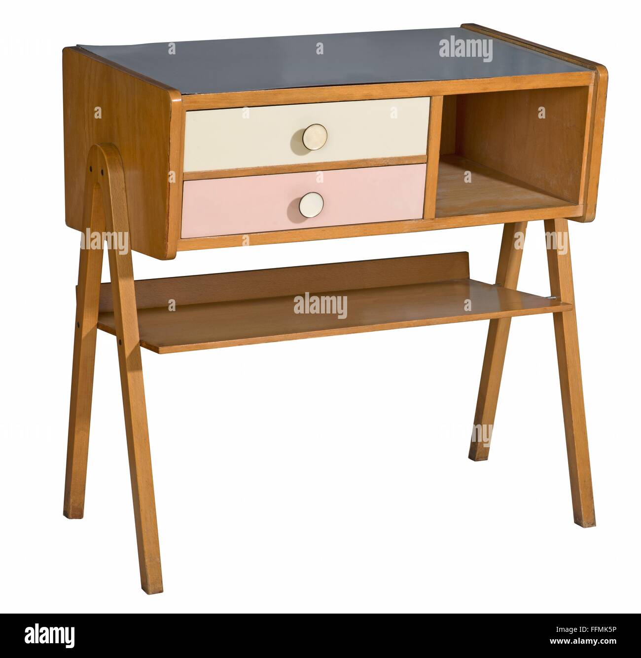 furnishings, cabinet, Germany, circa 1956, Additional-Rights-Clearences-NA - Stock Image