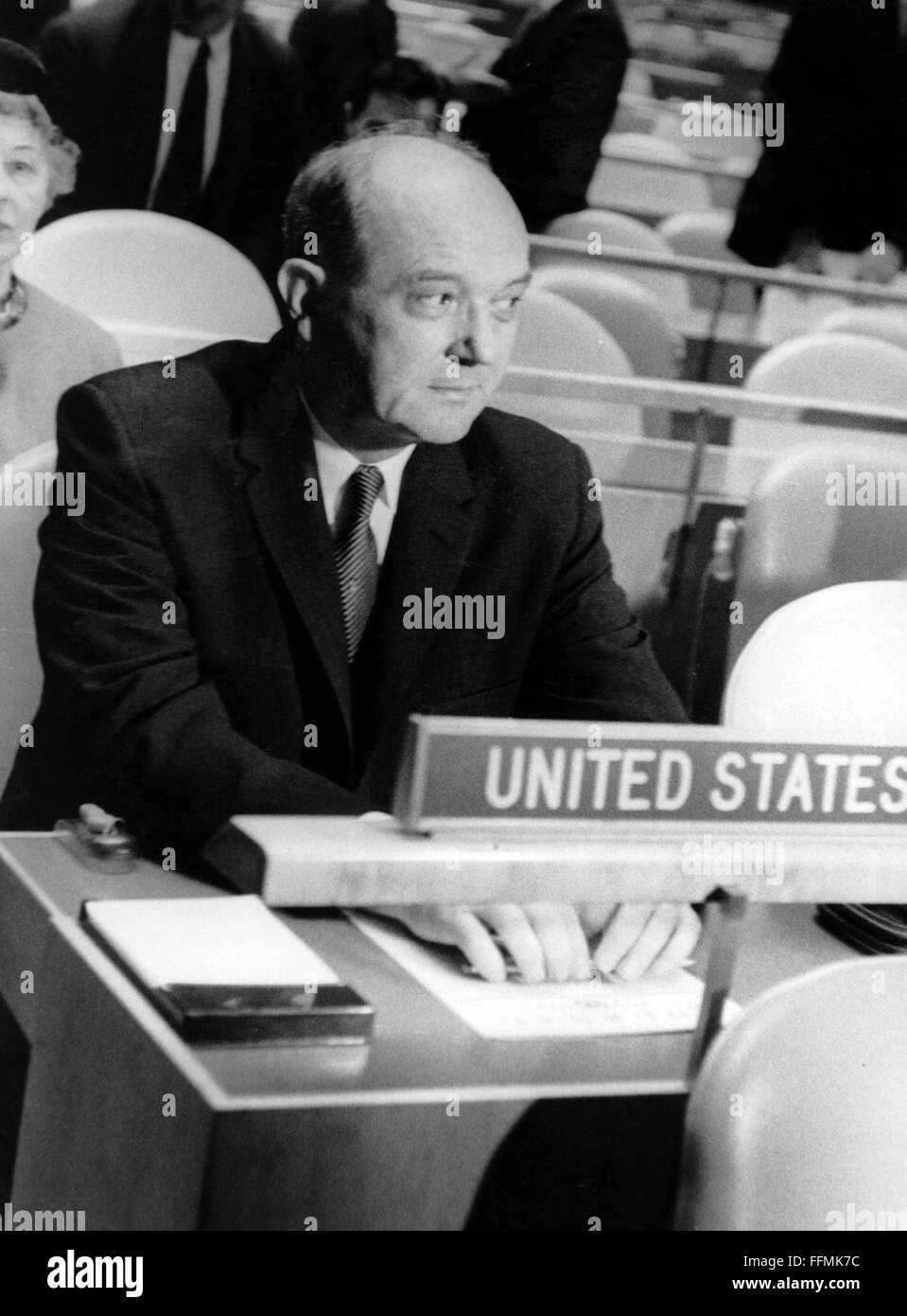 Rusk, Dean, 9.2.1909 - 20.12.1994, American politician (Democrats), Unites States Secretary of State 21.1.1961  - Stock Image