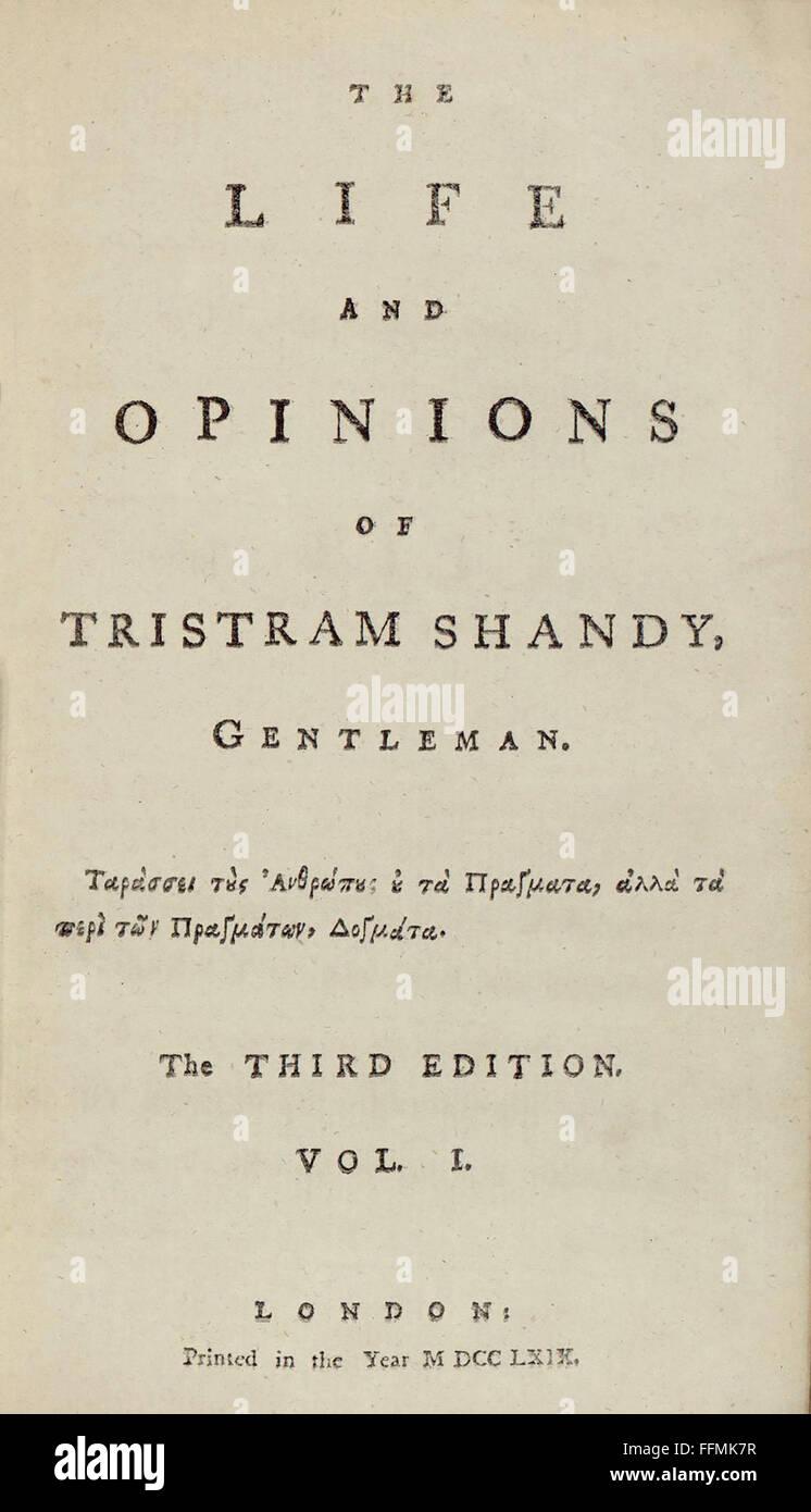 SG hist., Literatur, Buchtitel und Titelblätter, 'The Life and Opinions of Tristram Shandy, Gentleman' - Stock Image