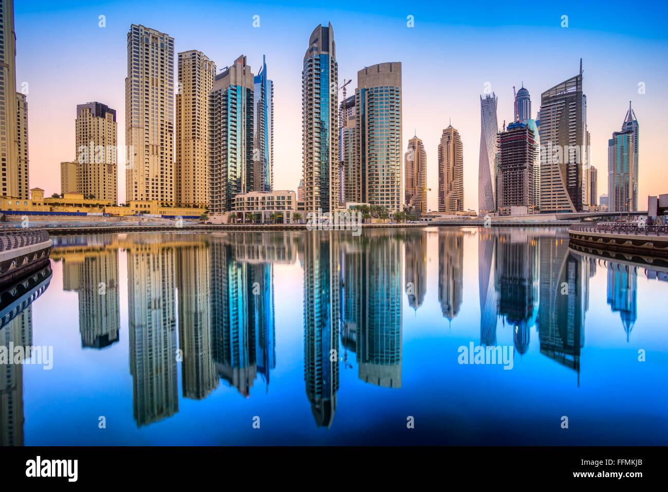 Skyscrapers in Dubai Marina. UAE - Stock Image