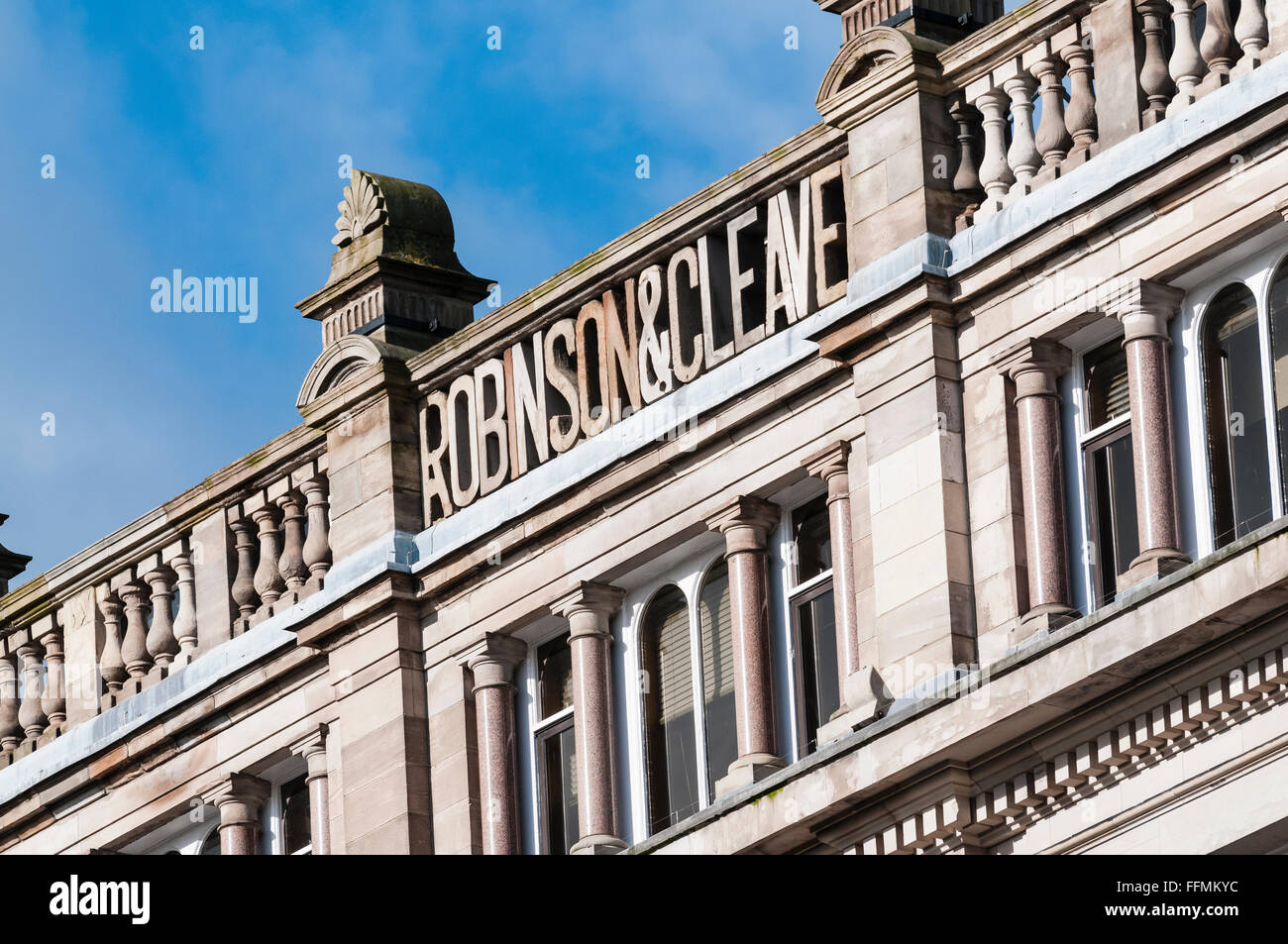 Robinson and Cleaver building, Belfast - Stock Image